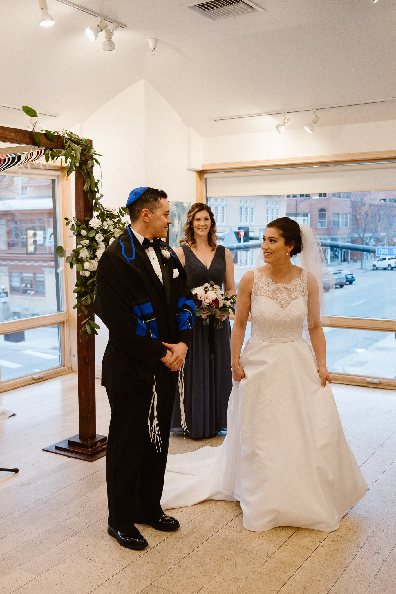 Rembrandt Yard wedding photographer, Boulder wedding photographer, Colorado Jewish wedding ceremony, bride circling the groom