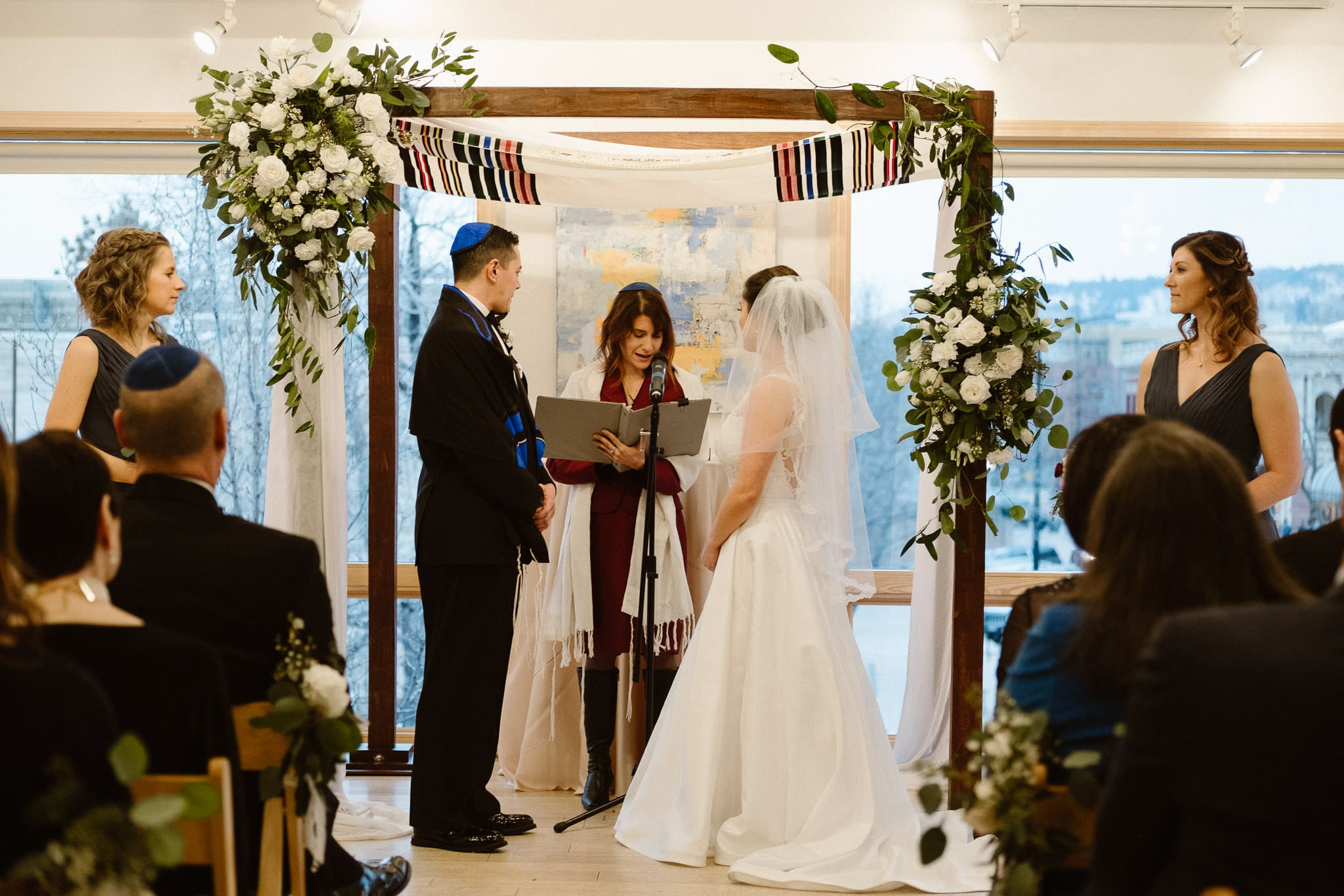 Rembrandt Yard wedding photographer, Boulder wedding photographer, Colorado Jewish wedding ceremony