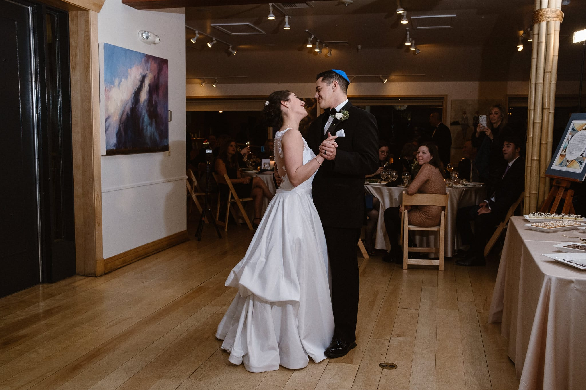 Rembrandt Yard wedding photographer, Boulder wedding photographer, Colorado Jewish wedding, bride and groom first dance