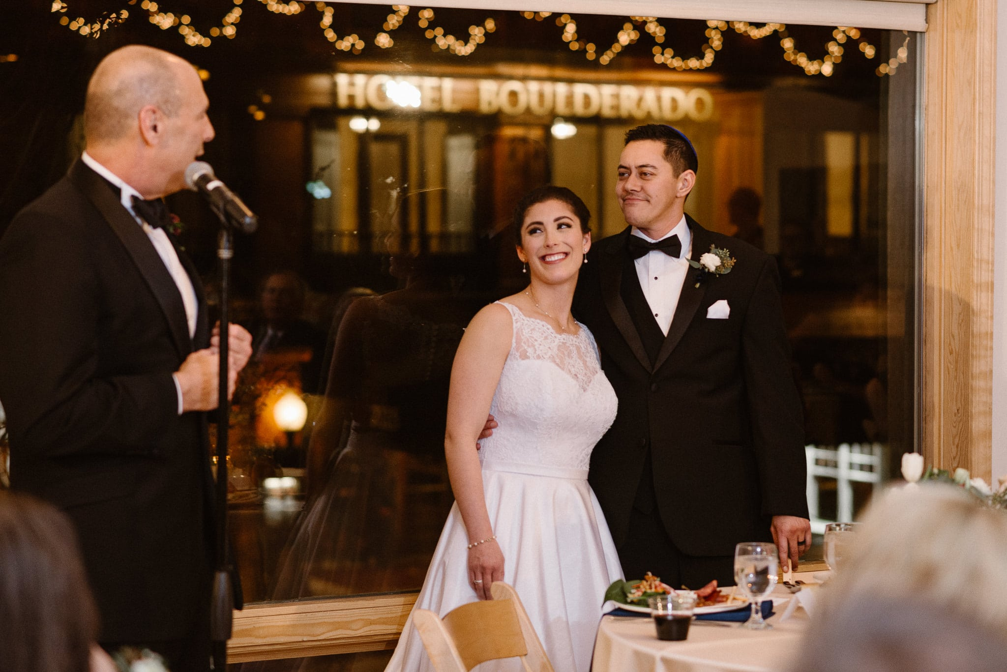 Rembrandt Yard wedding photographer, Boulder wedding photographer, Colorado Jewish wedding, father of the bride toast