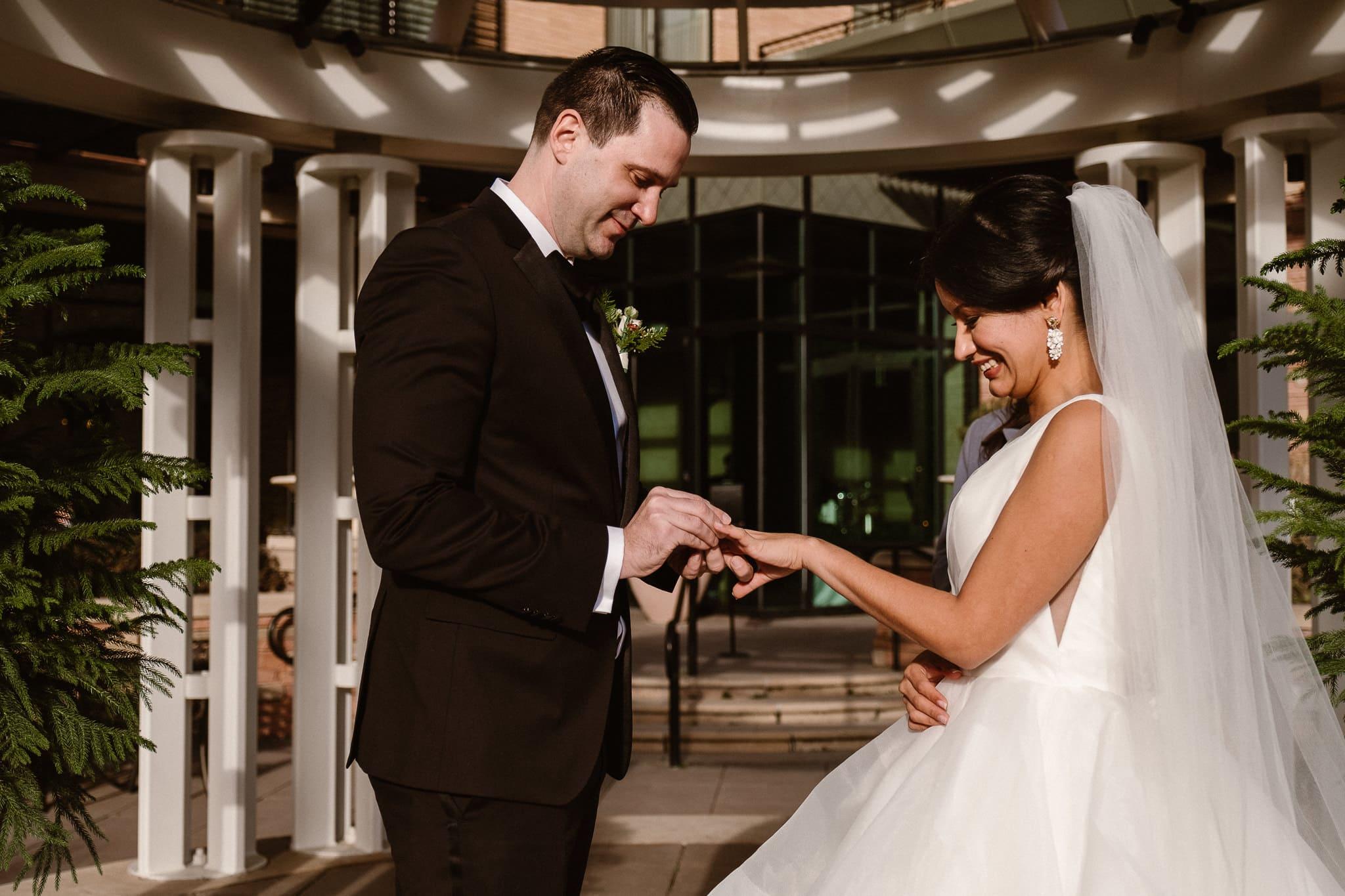 St Julien wedding photographer, The St Julien Hotel & Spa wedding ceremony in downtown Boulder, Boulder wedding photographer