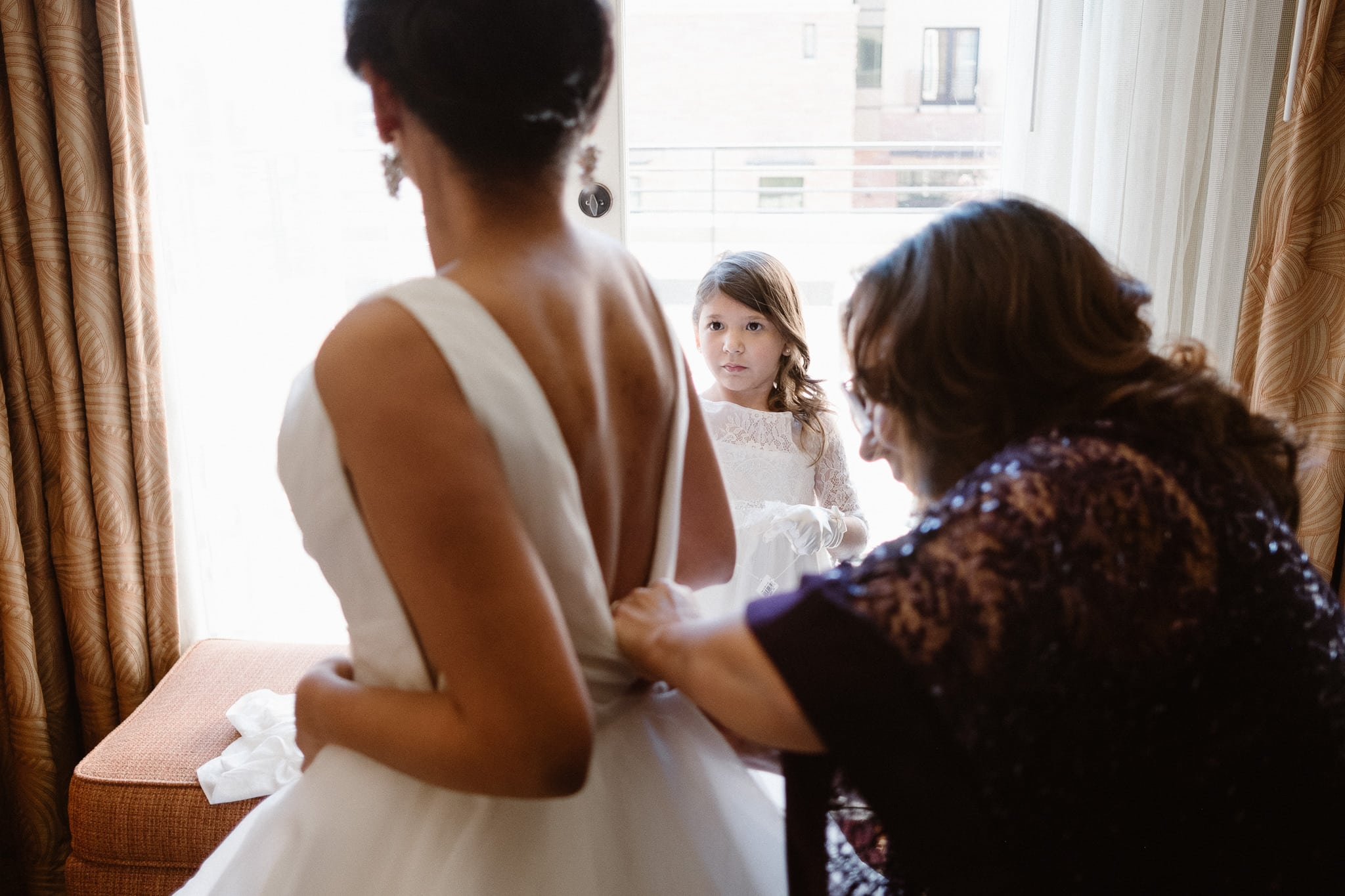 Bride getting ready for a St Julien wedding in Boulder, Colorado wedding photographer