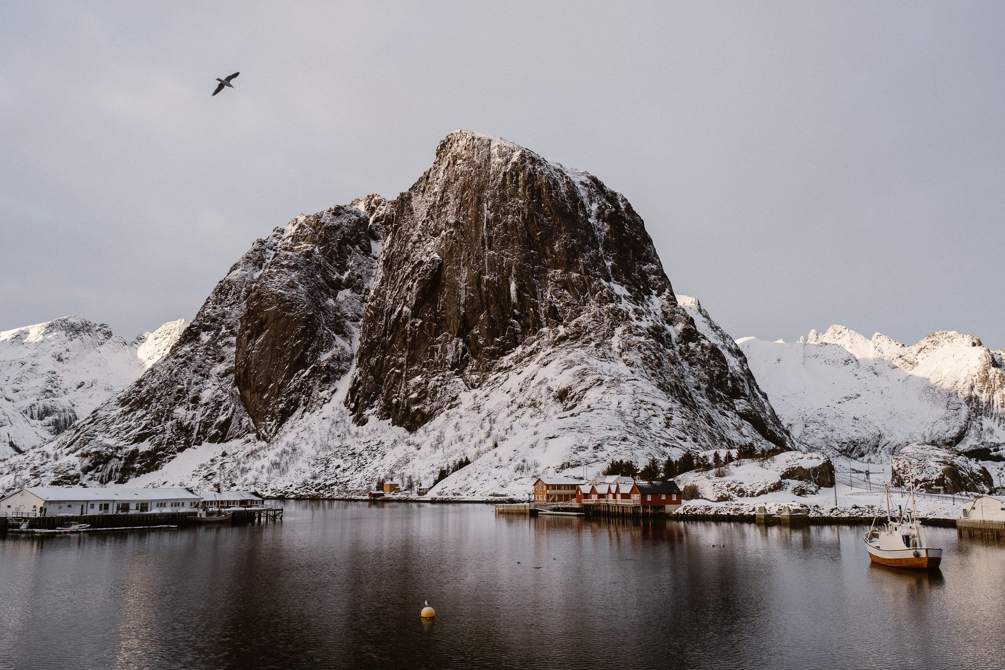 Lofoten islands in winter, best places to elope in Norway