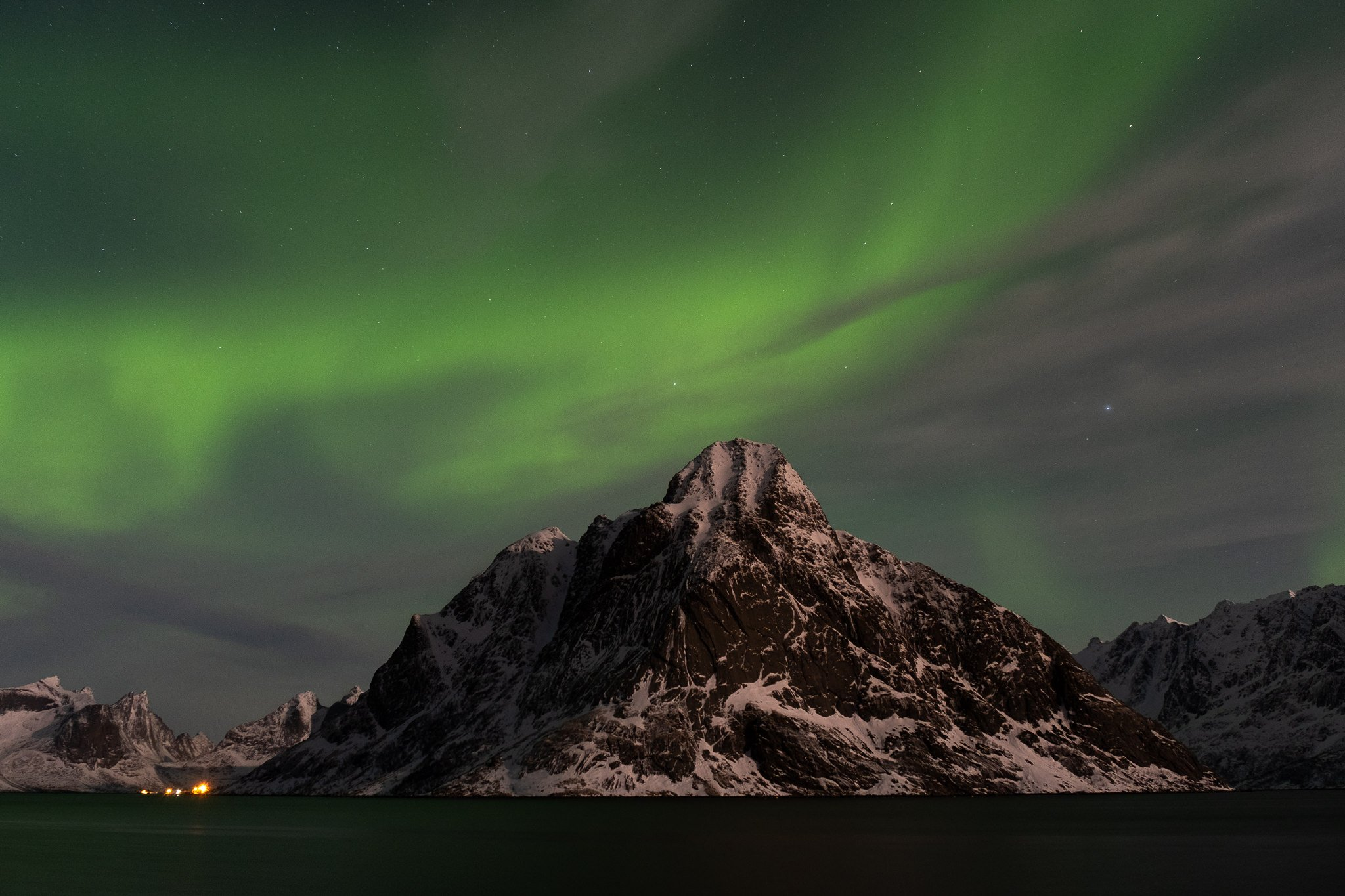 Northern lights in Reine, Lofoten