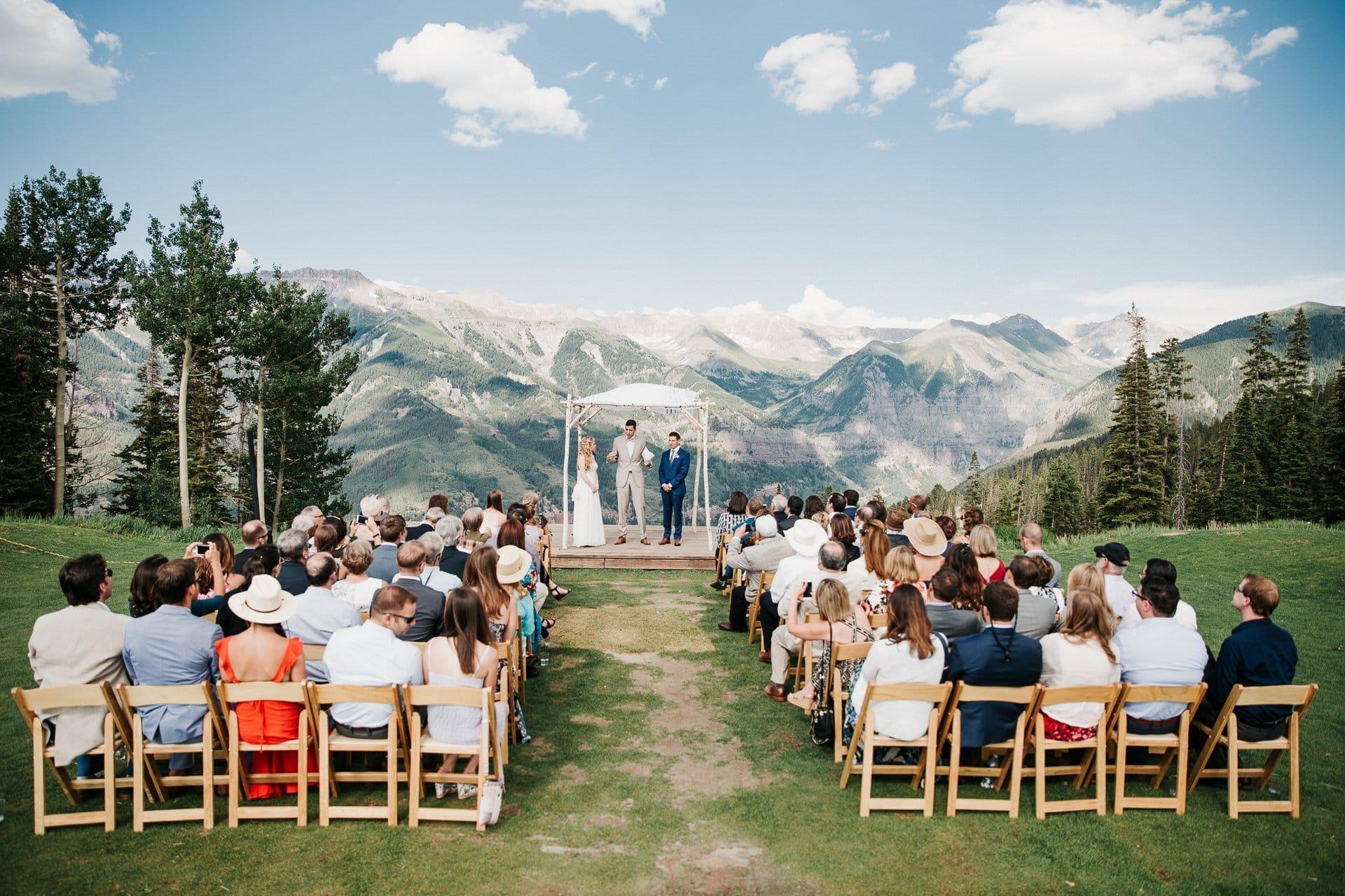 San Sophia Overlook Telluride Mountain View Jewish Wedding Ceremony