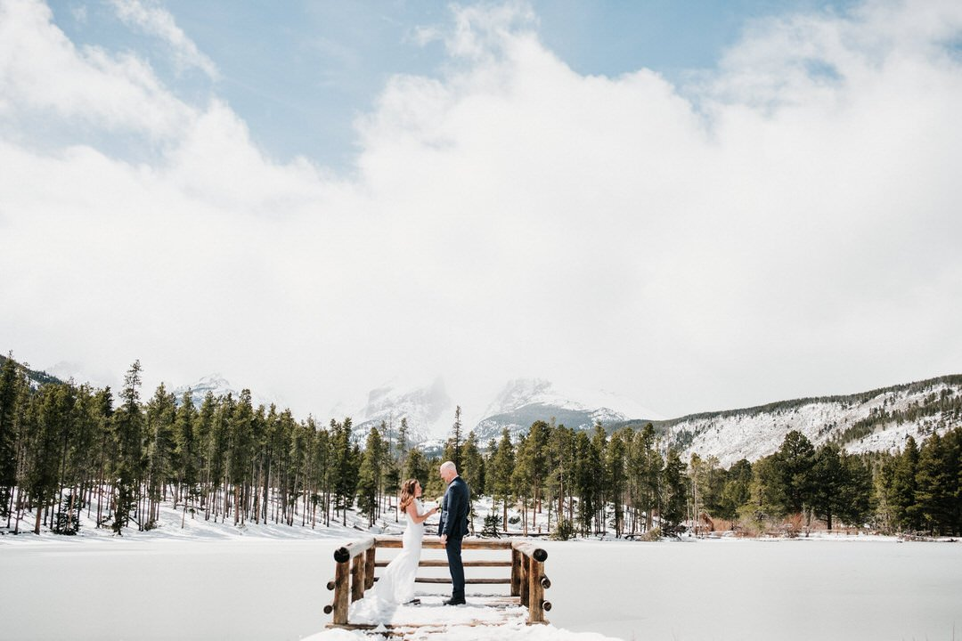 Sprague Lake elopement in Rocky Mountain National Park