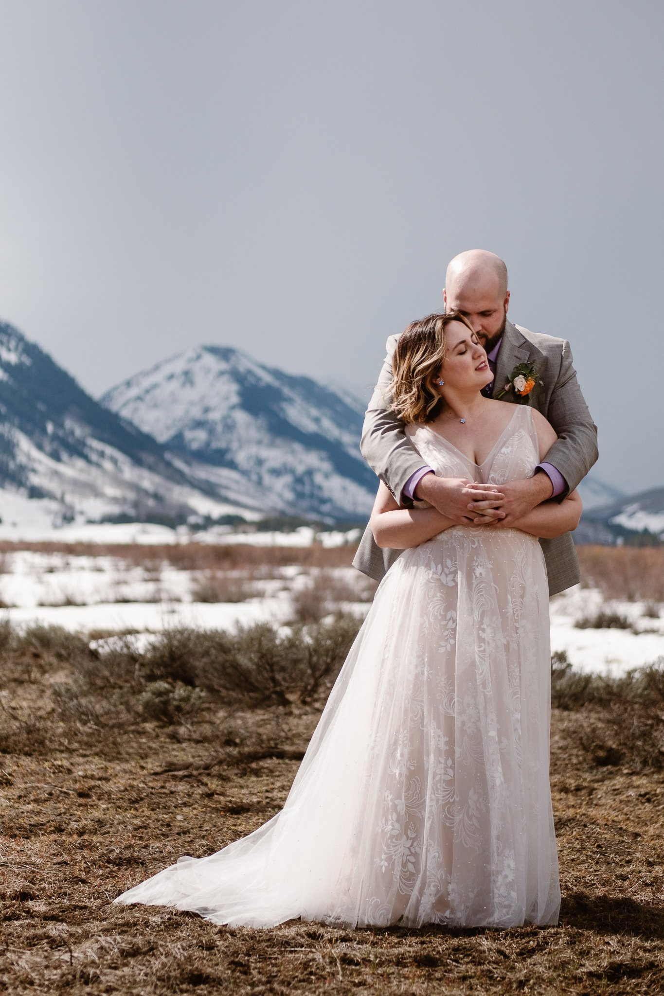 Crested Butte winter wedding, how to handle bad weather on your wedding day