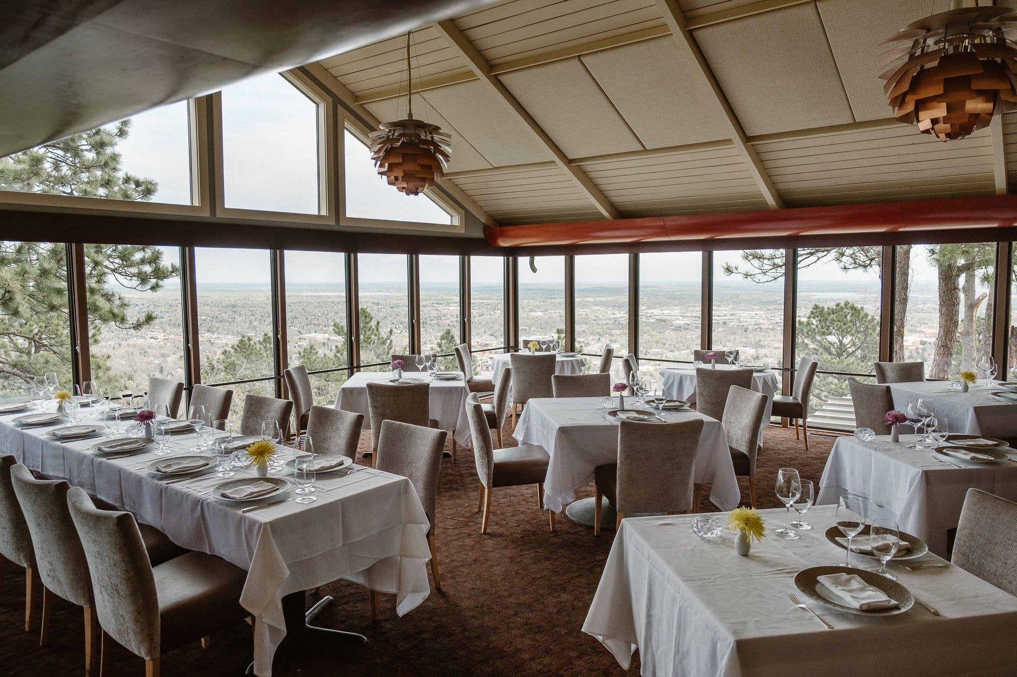 Flagstaff House Restaurant, Boulder wedding venue