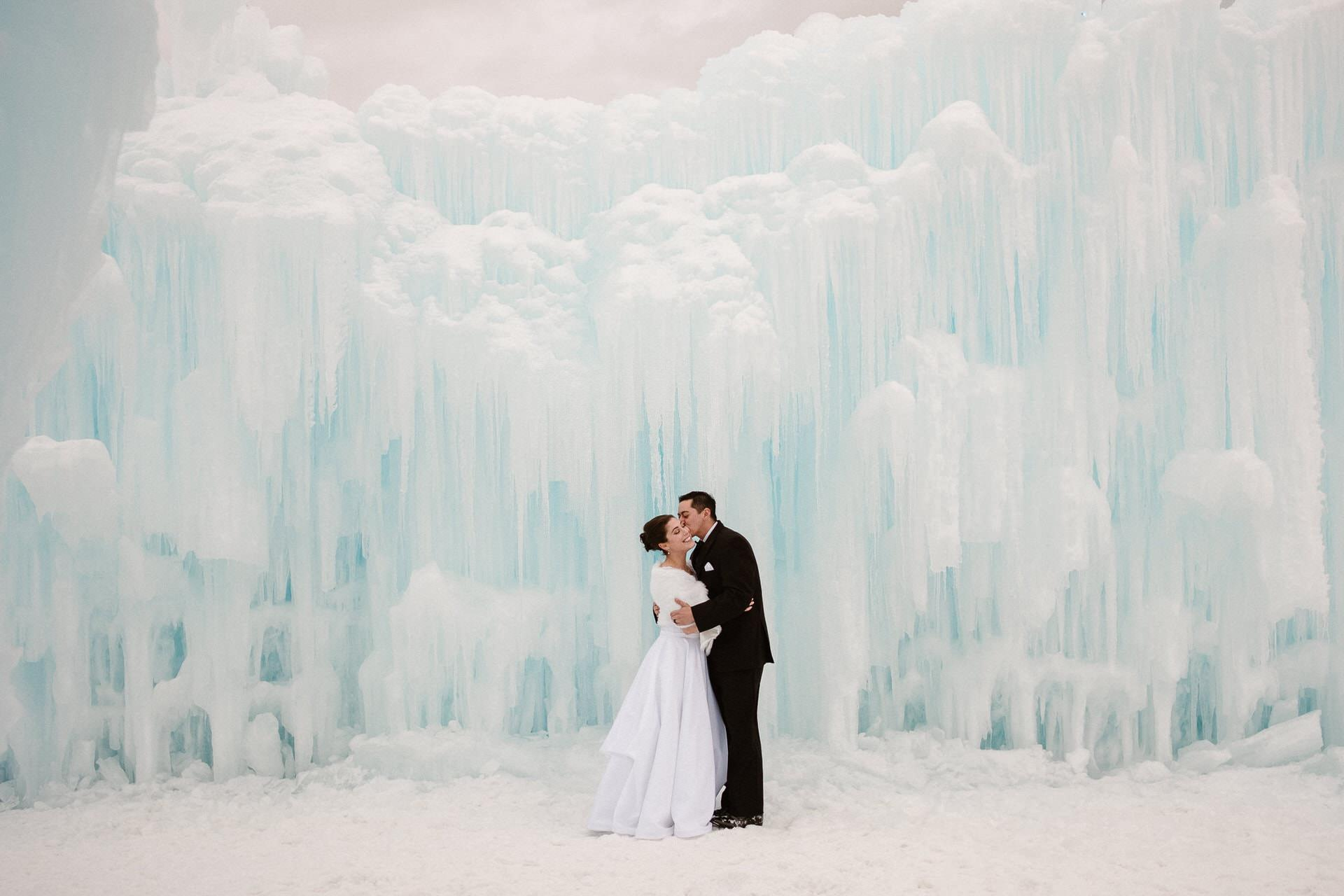 Ice Castles Dillon, Colorado wedding photographer, winter wedding, ice hotel wedding photographer