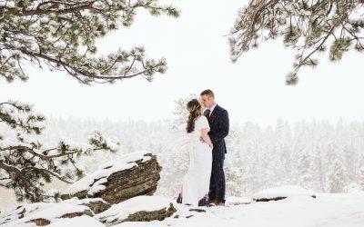 Lindsay + Payden's RMNP Spring Blizzard Elopement