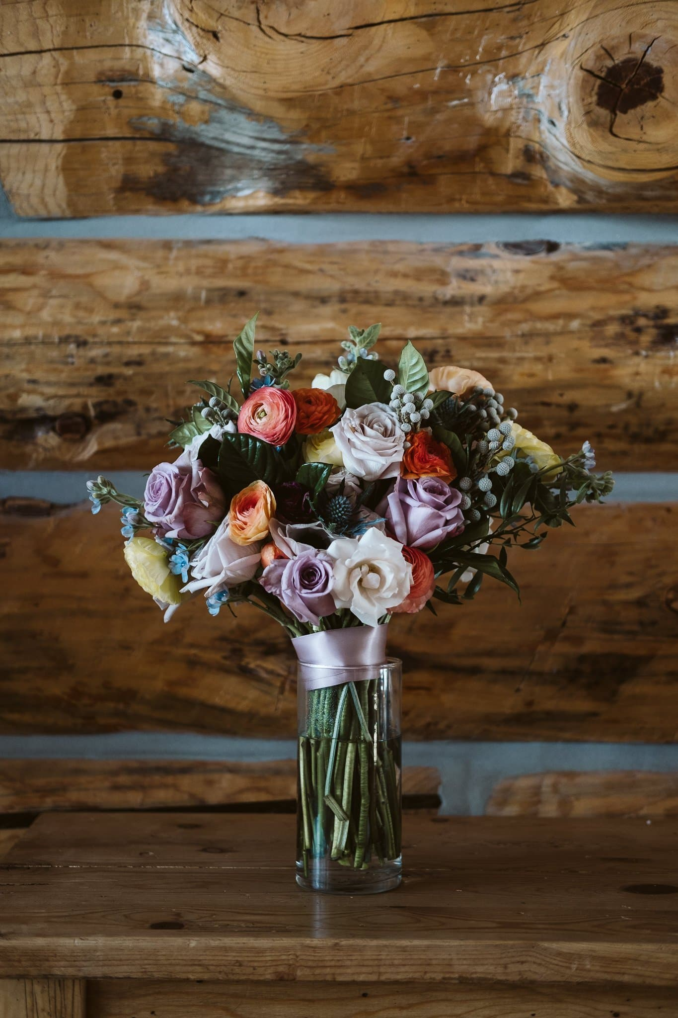 Spring color wedding bouquet by From the Ground Up Flowers