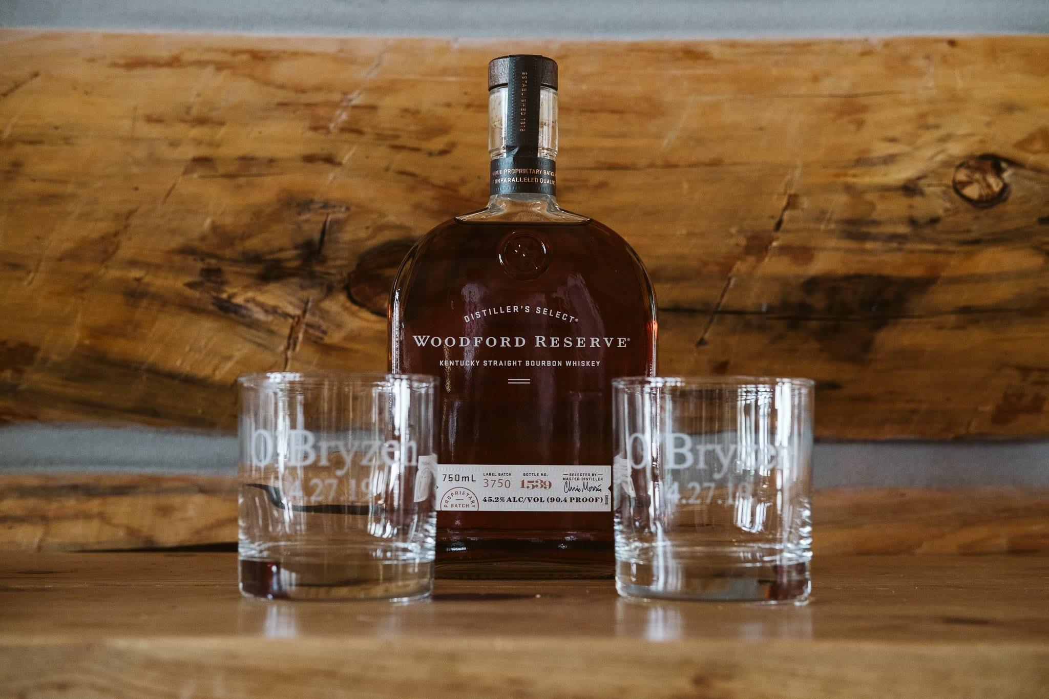 Custom engraved whiskey glasses for wedding