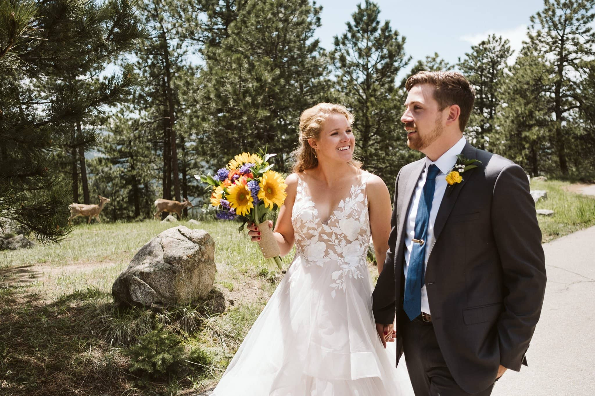 Artist Point wedding photos on Flagstaff mountain in Boulder, Colorado