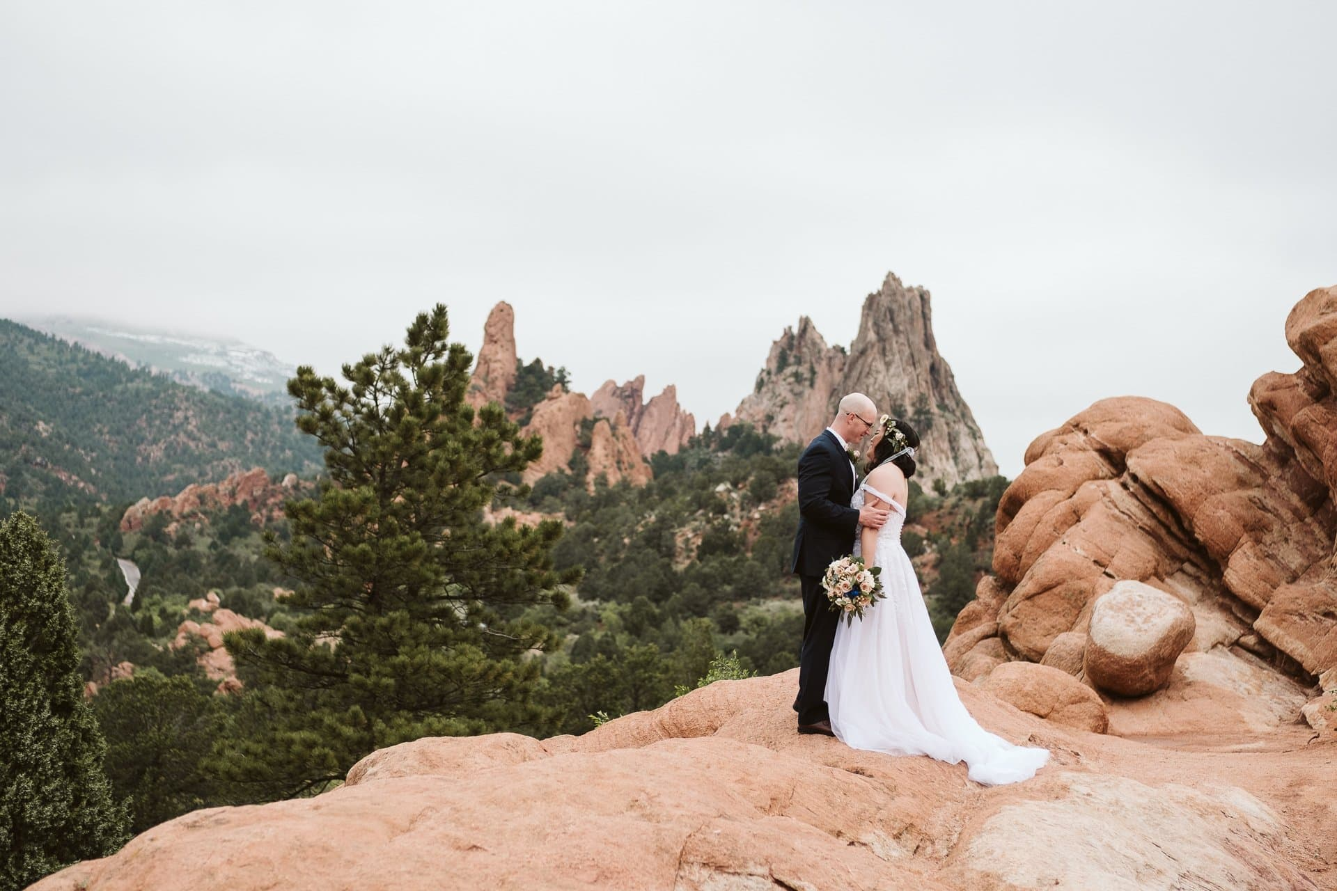 Moody Garden of the Gods Elopement in Colorado Springs