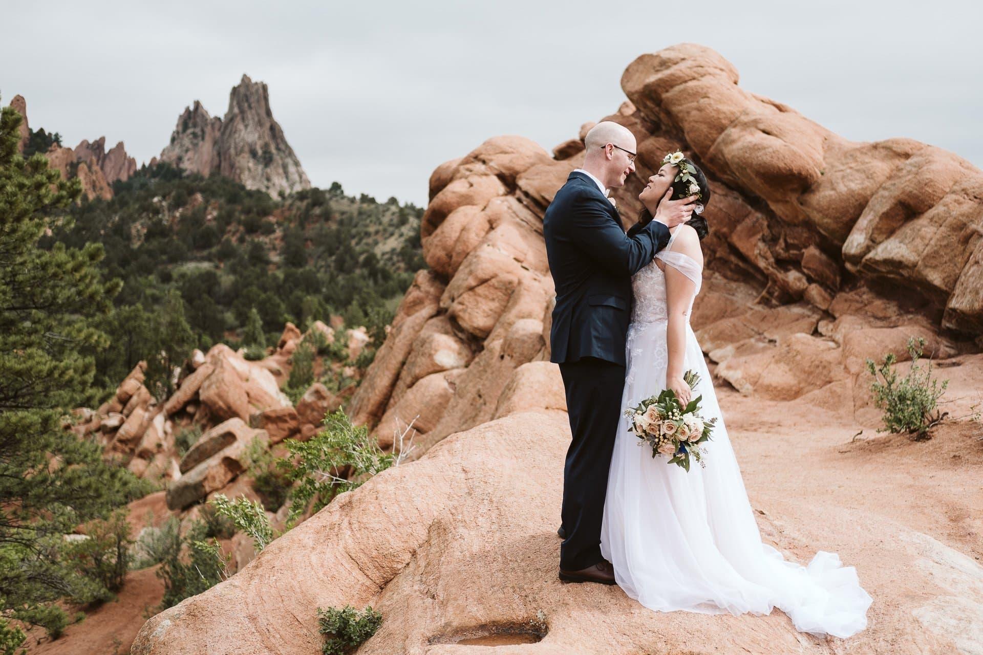 Garden of the Gods elopement in Colorado Springs, Colorado elopement photographer