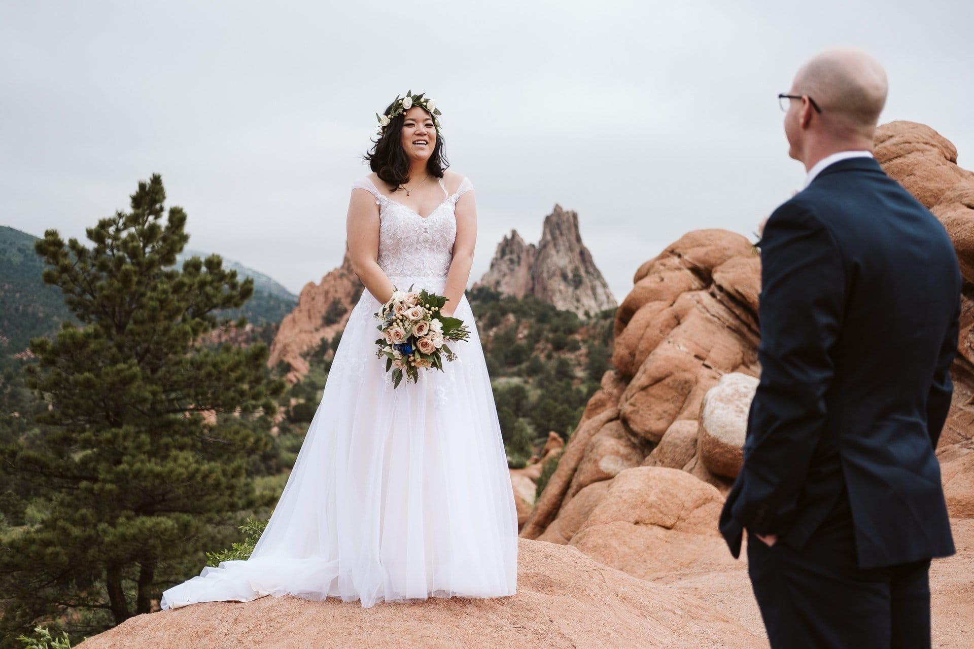 Bride portrait at Garden of the Gods in Colorado Springs