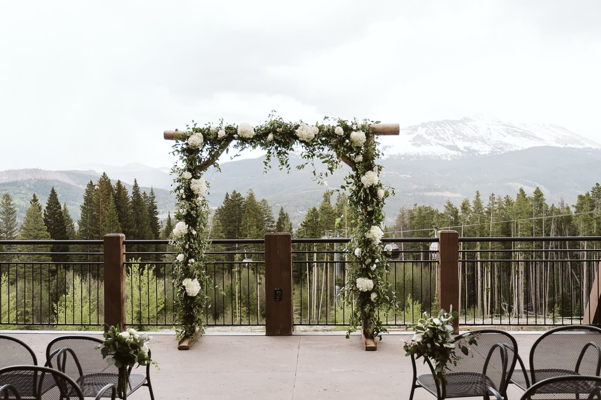 Wedding ceremony and reception at Sevens at Breckenridge Ski Resort, Colorado mountain wedding photographer