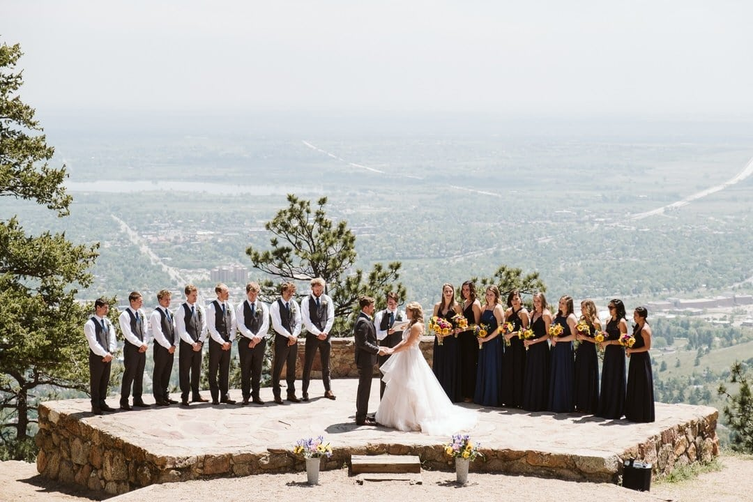 Colorado wedding photographer at Sunrise Amphitheater in Boulder
