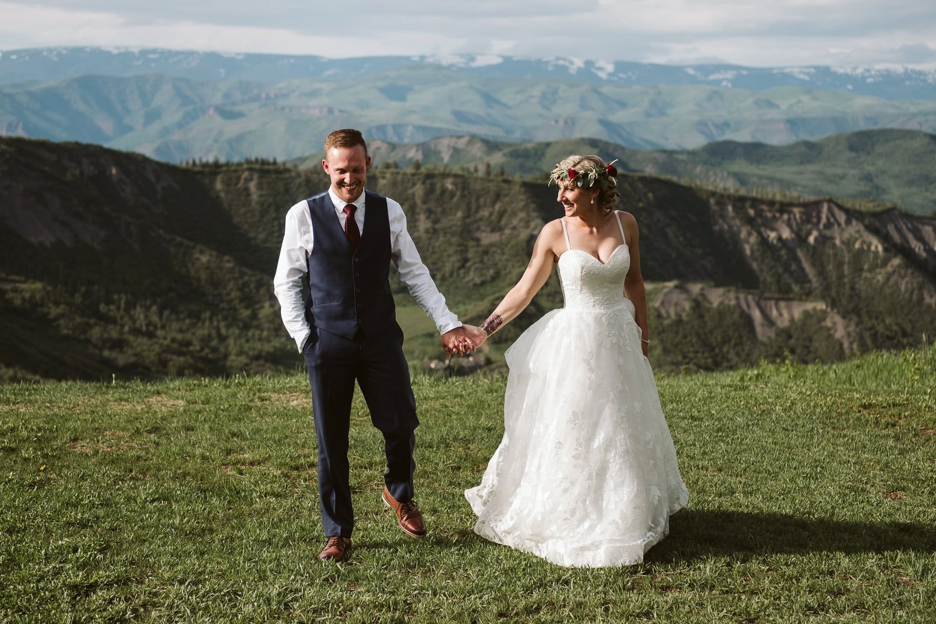 Lynn Britt Cabin wedding reception in Aspen Snowmass