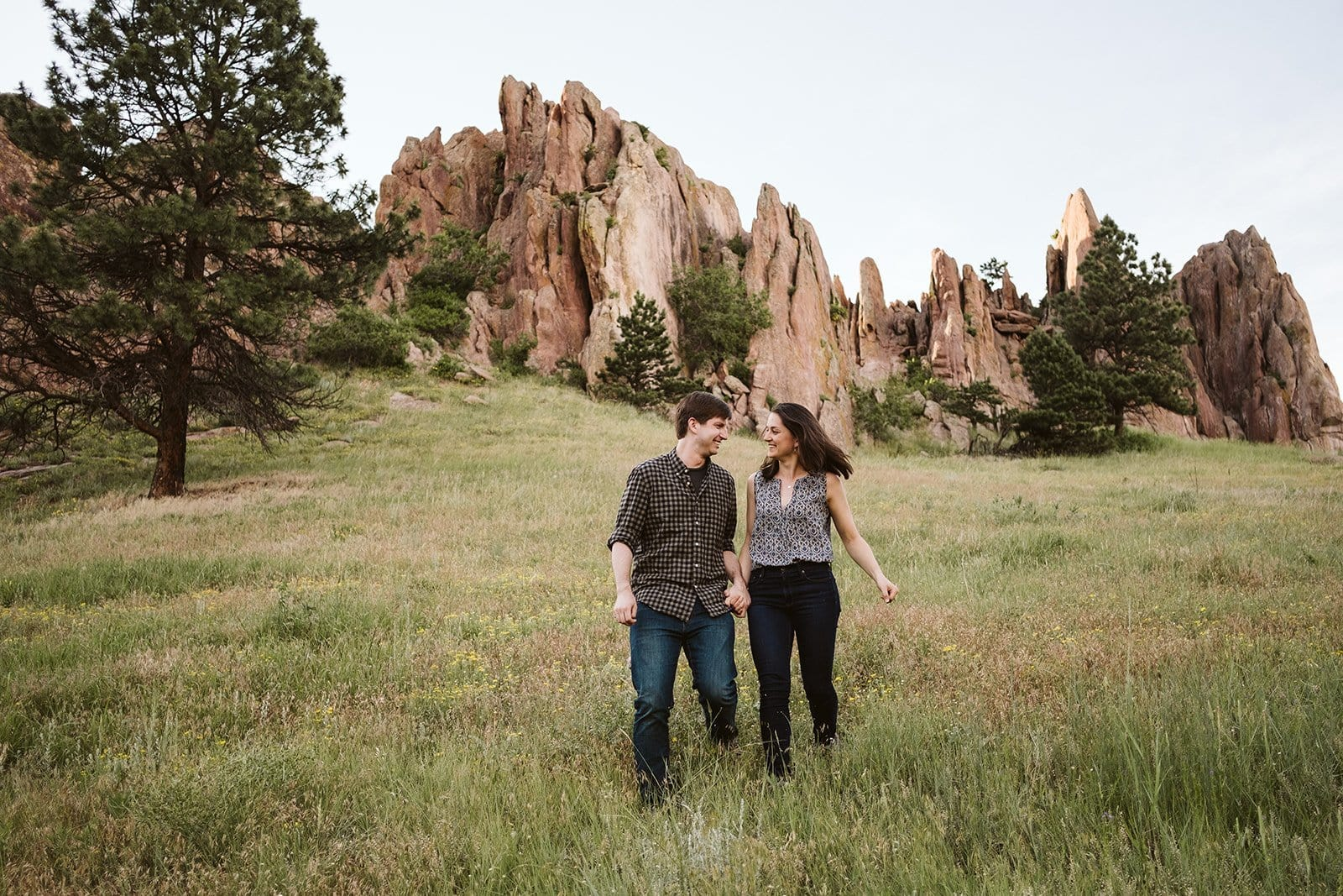 Red Rocks Trail at Settlers Park in Boulder, Colorado engagement session locations