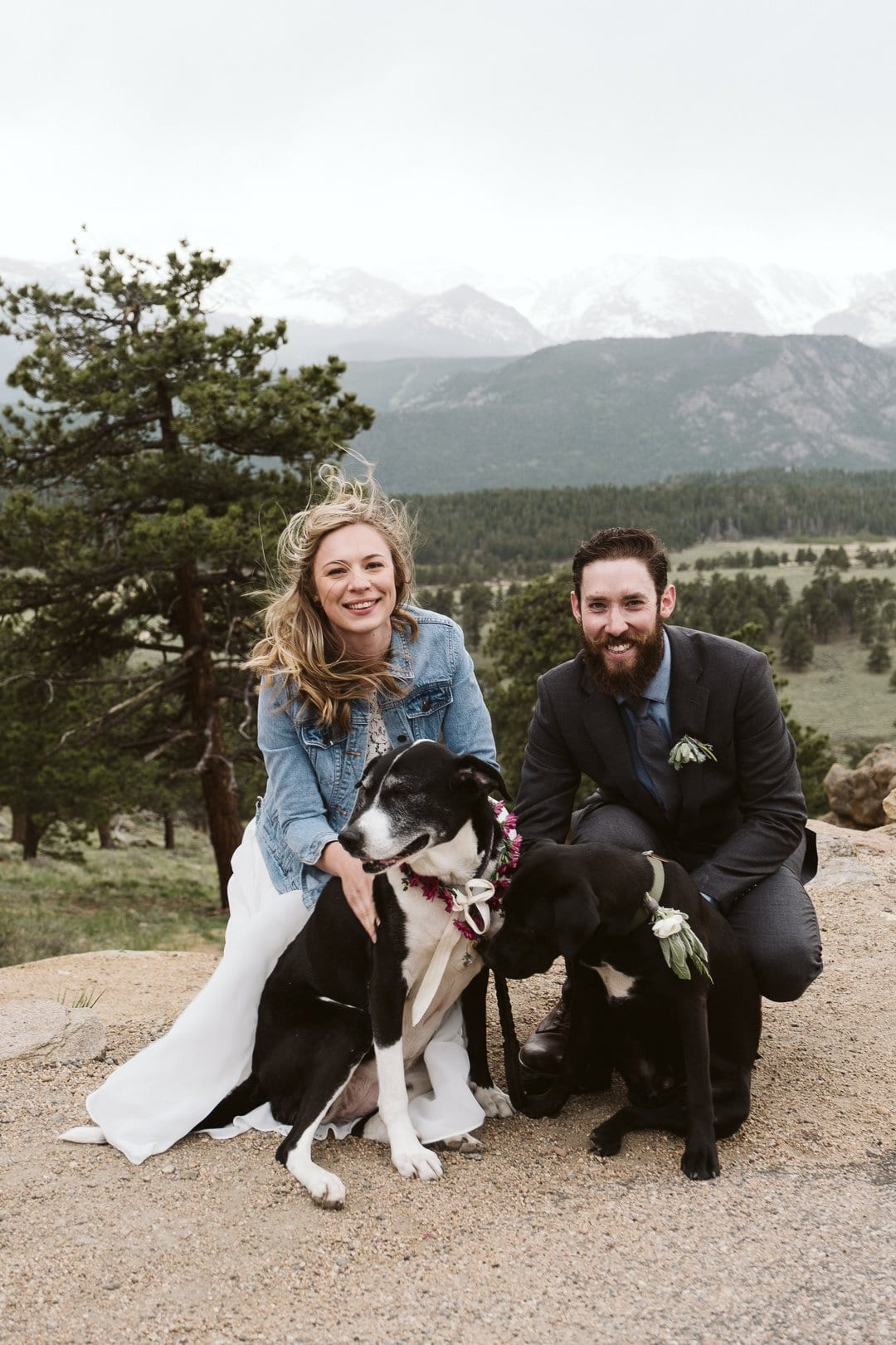 3M Curve elopement in Rocky Mountain National Park, Estes Park wedding photographer, Colorado adventure elopement with dogs