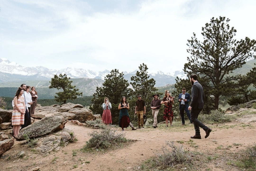 3M Curve elopement in Rocky Mountain National Park, Estes Park wedding photographer, Colorado adventure elopement