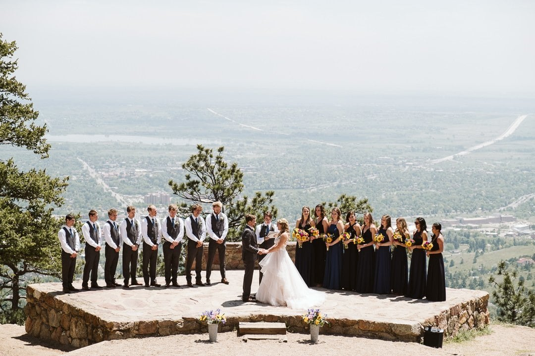 Sunrise Amphitheater wedding ceremony in Boulder Colorado