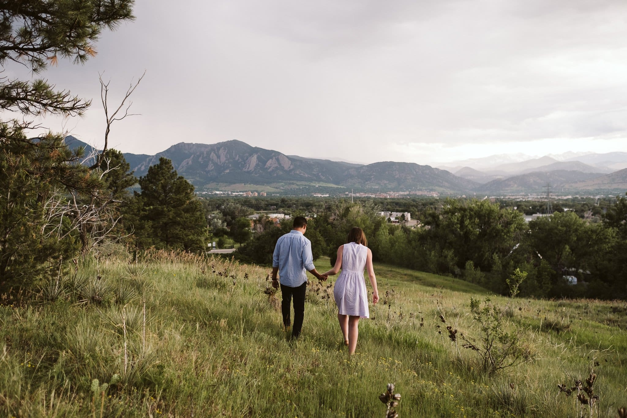 Engagement session at Legion Park in Boulder Colorado