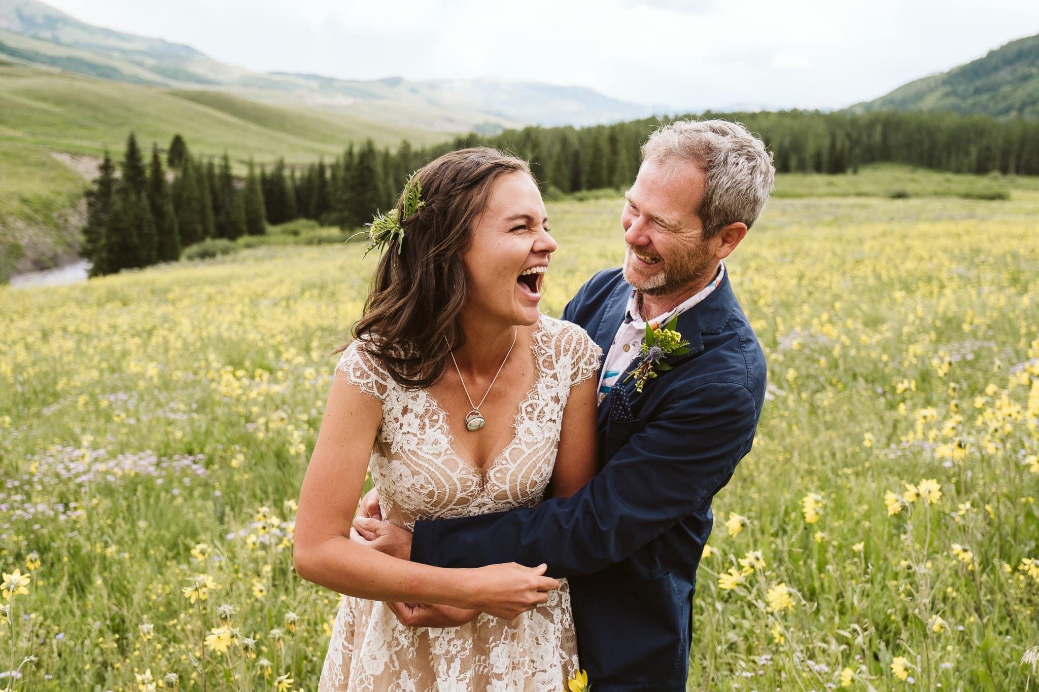 Wildflower wedding in Crested Butte