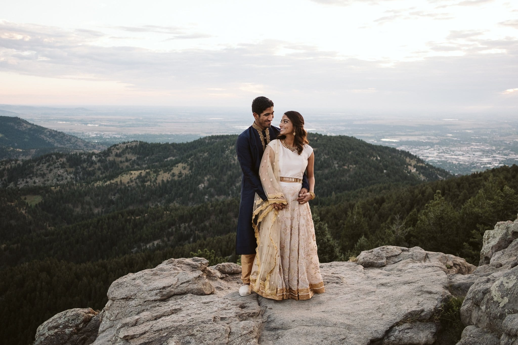 Sunrise engagement session at Lost Gulch in Boulder
