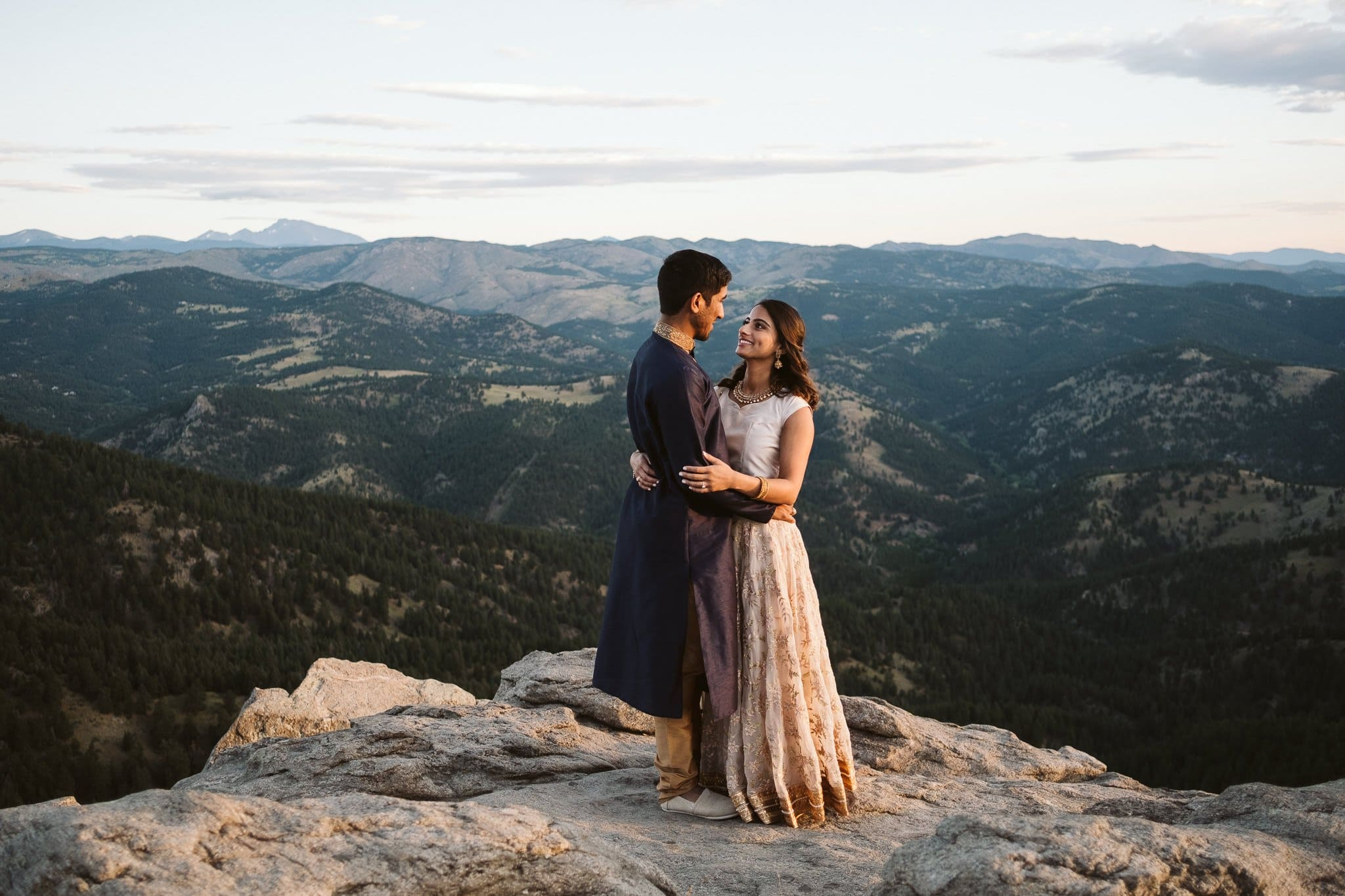 Indian engagement session, mountain engagement photos in Boulder Colorado
