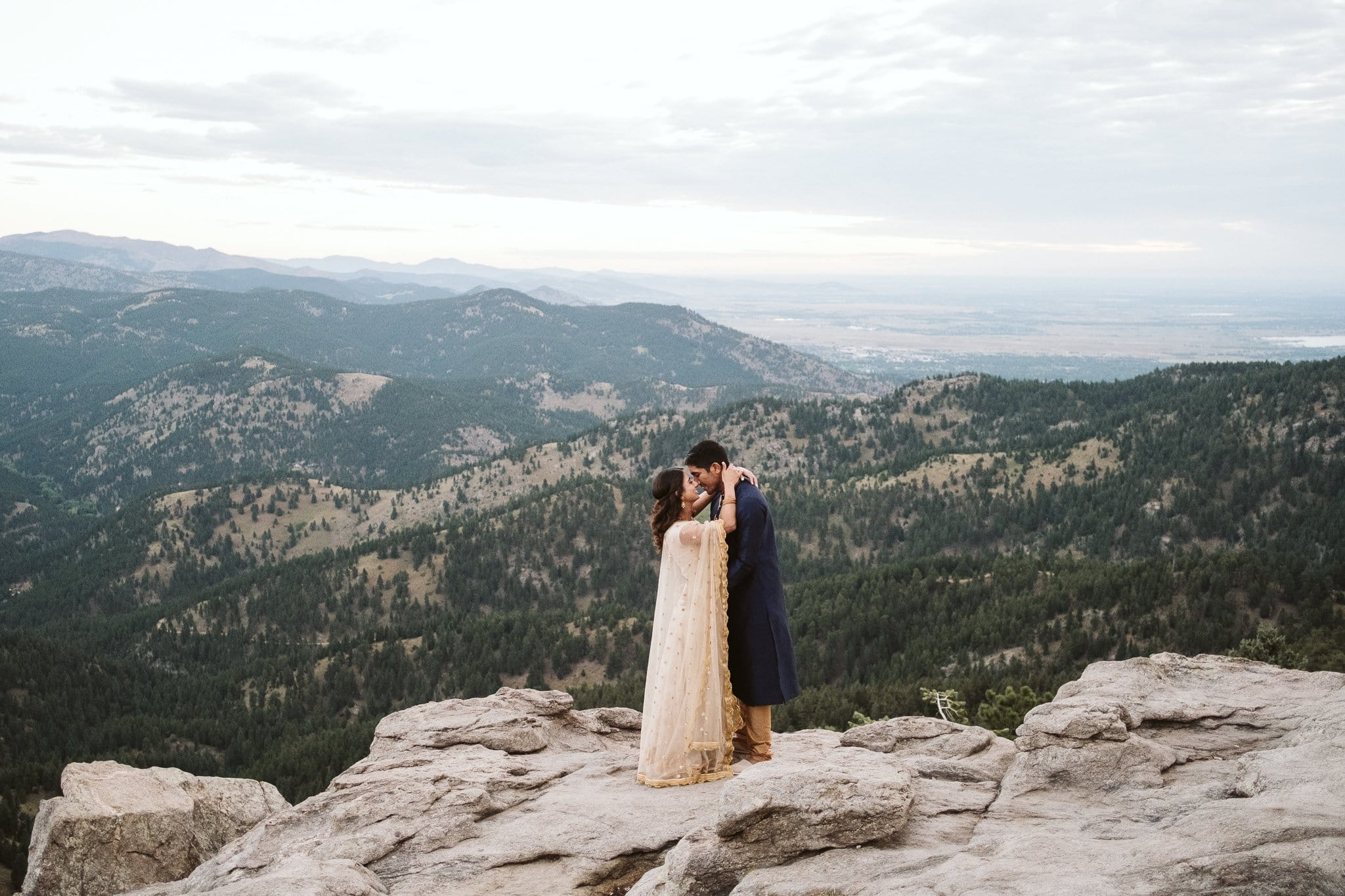 Boulder engagement session in the mountains, Indian engagement session outfits