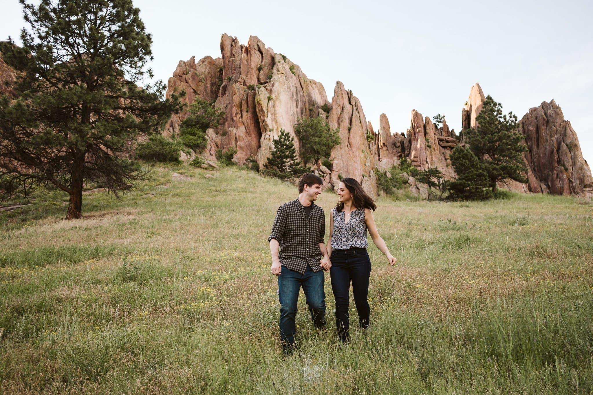 Red Rocks Boulder engagement session