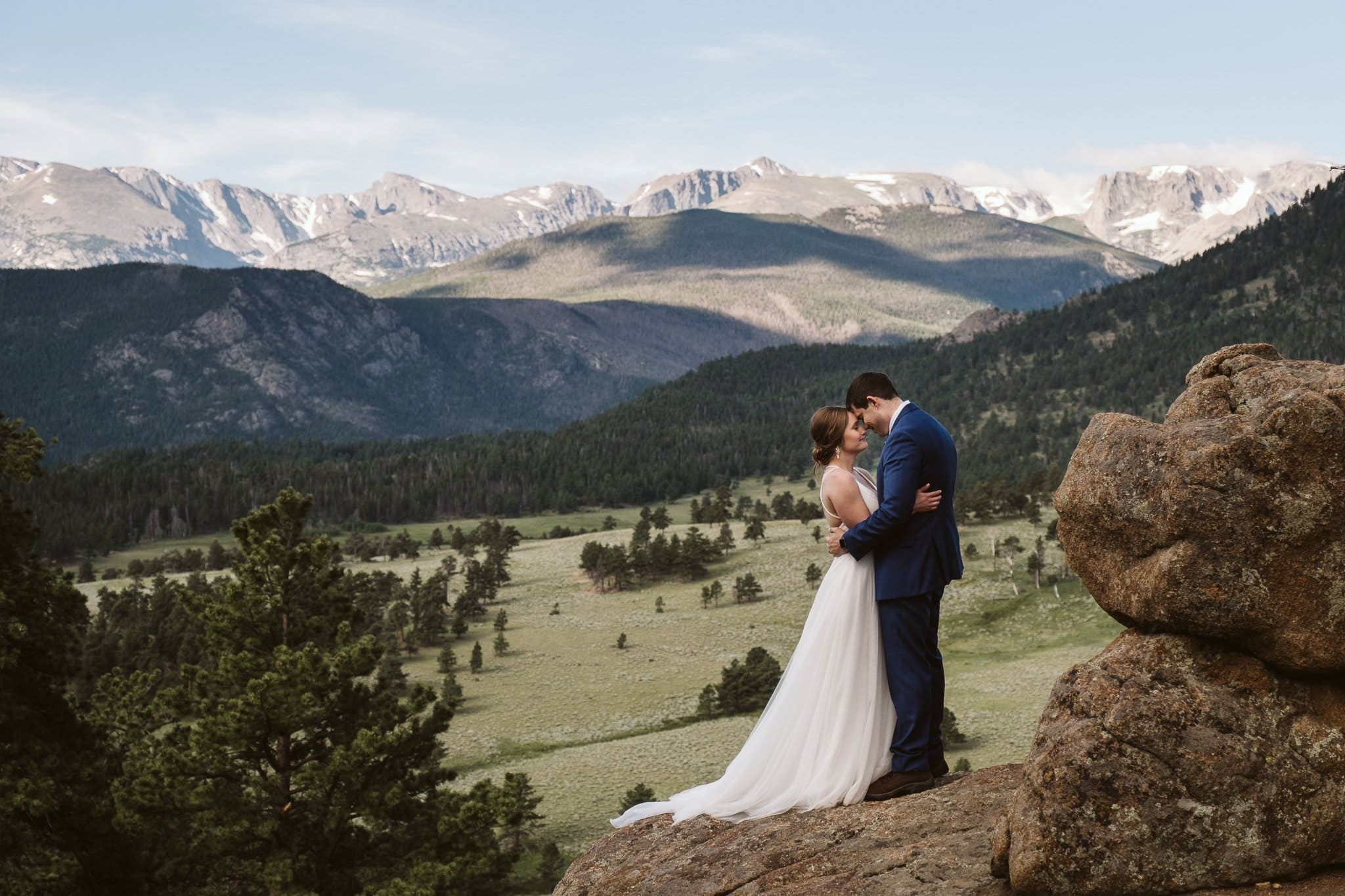 Adventure elopement in Rocky Mountain National Park, Colorado wedding photographer