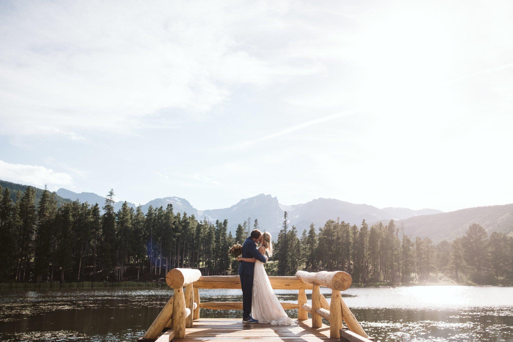 Sprague Lake elopement photos in Rocky Mountain National Park, Colorado elopement photographer