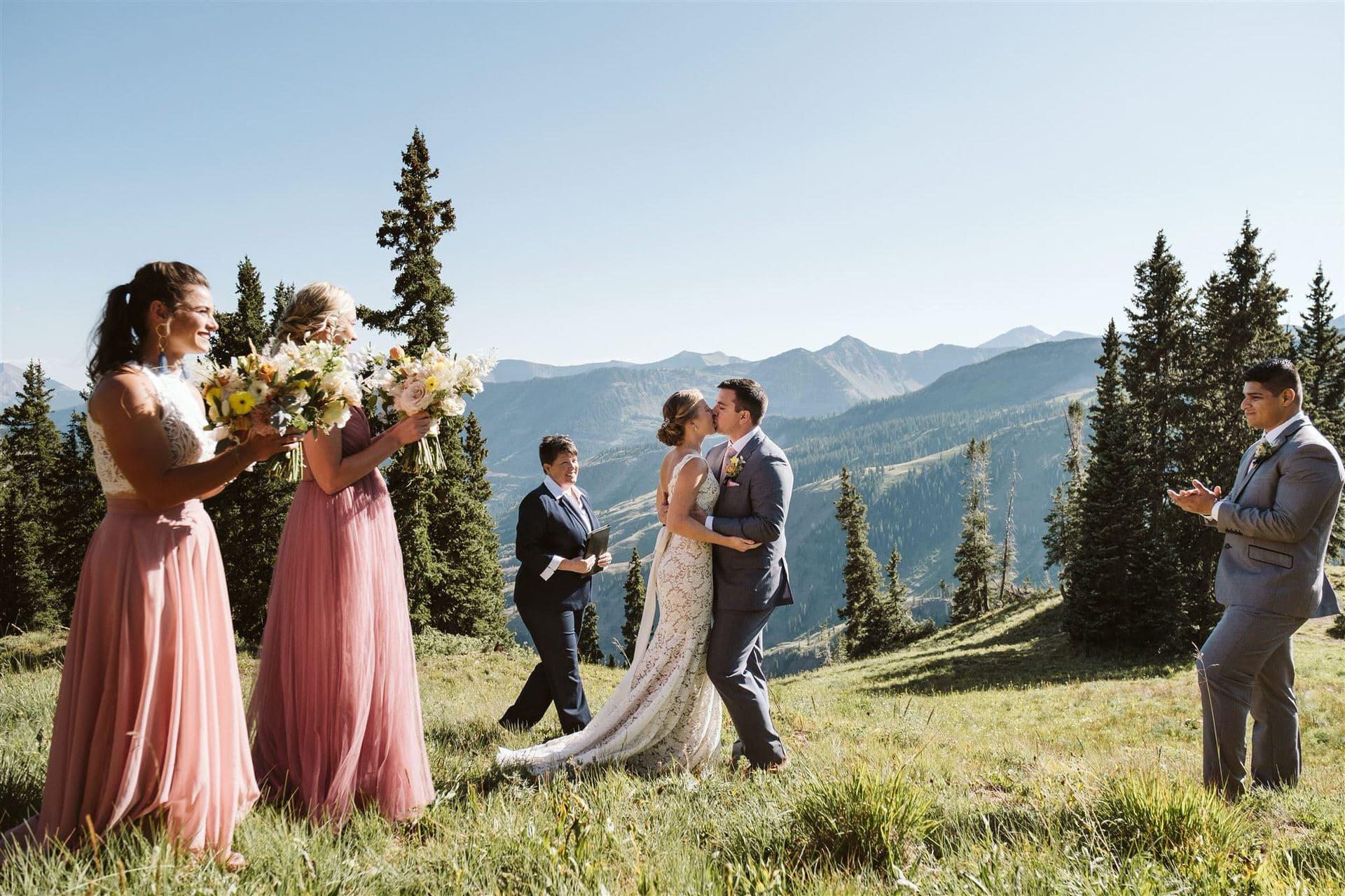 Crested Butte mountain pass elopement, Colorado adventure elopement