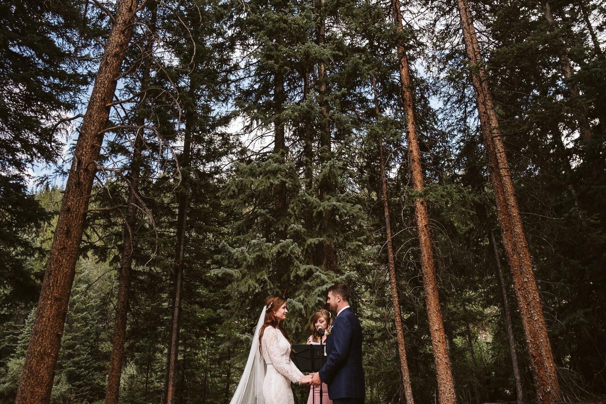 Rivertree Lodge wedding ceremony in Breckenridge, Colorado