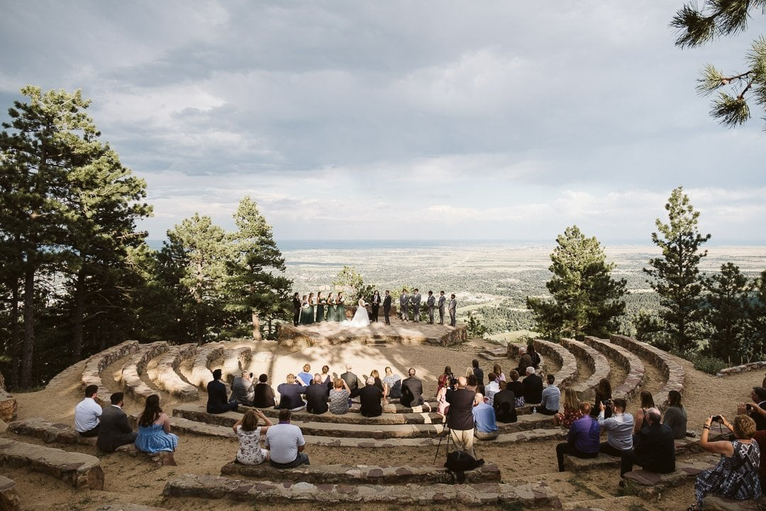 Sunrise Amphitheater wedding at sunset