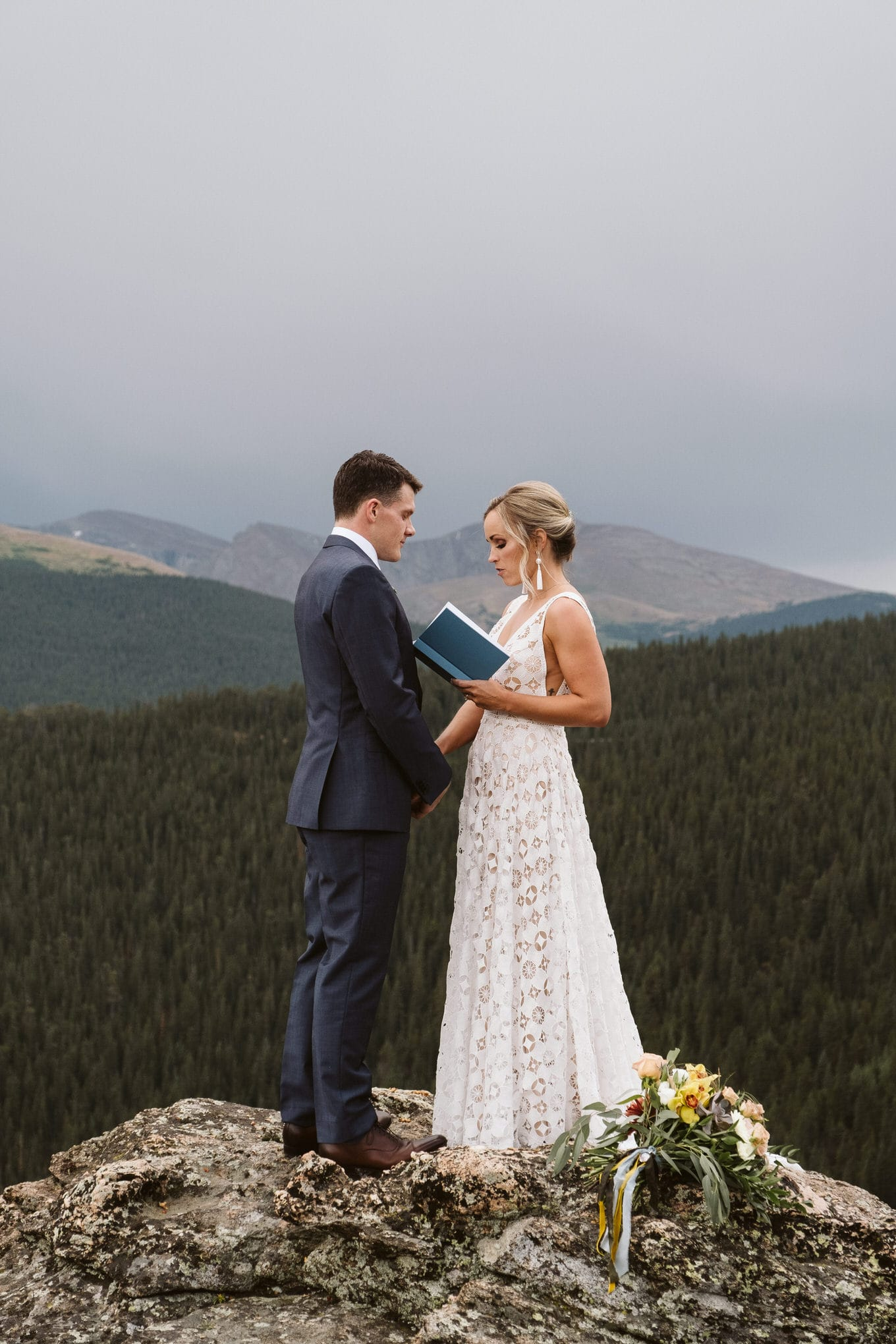 Elope in Colorado on a mountain, Mount Evans elopement