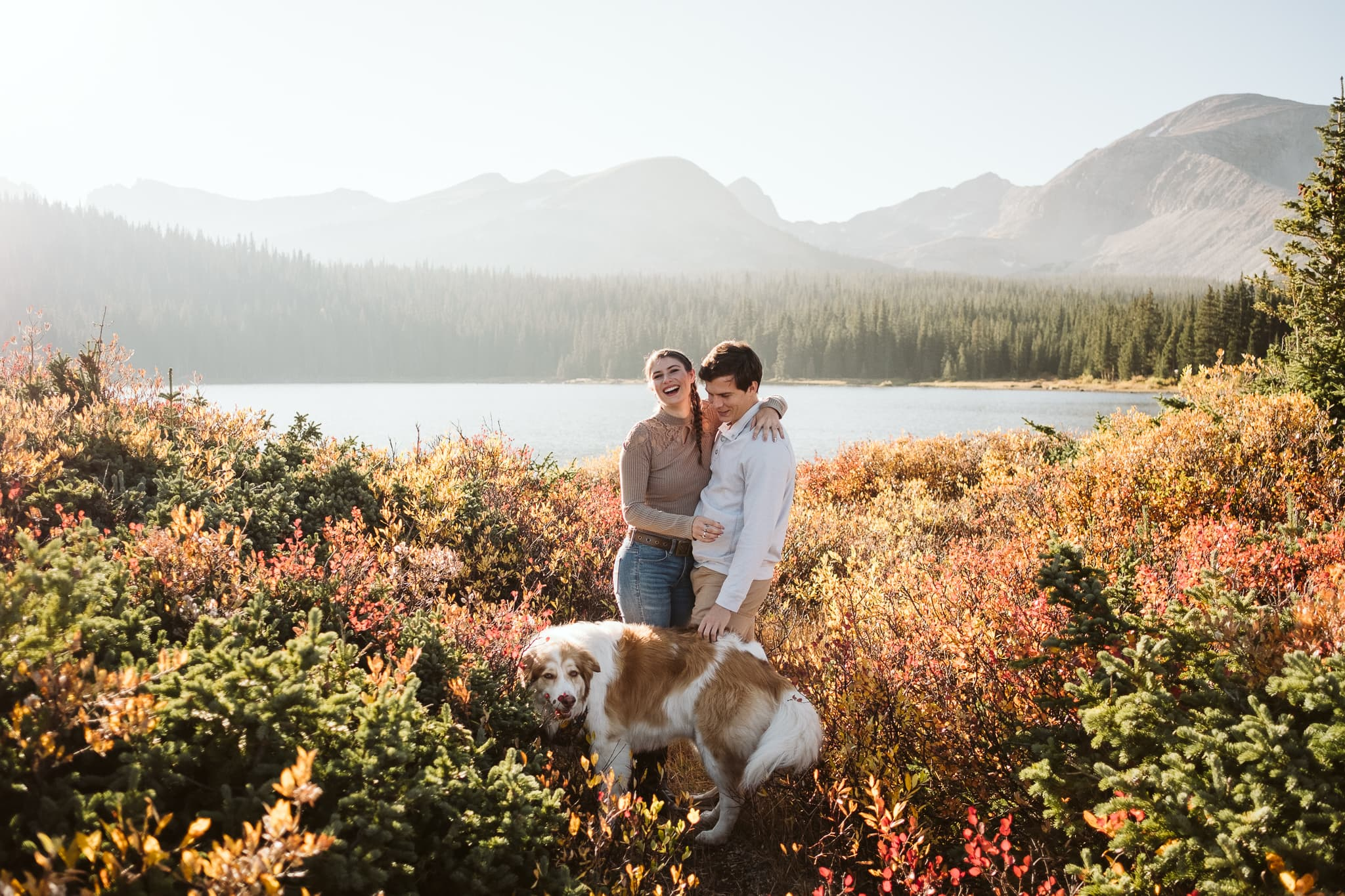 Fall engagement session at Brainard Lake