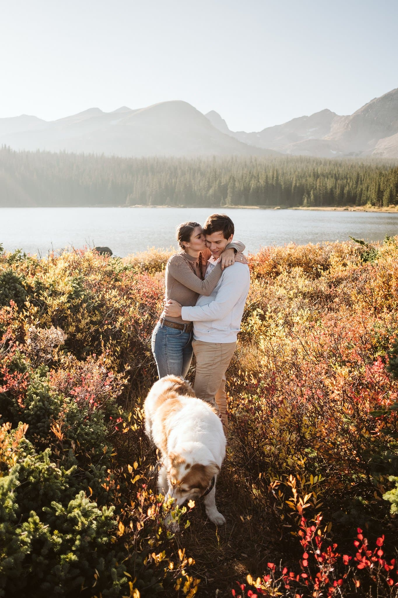 Brainard Lake engagement session in Boulder