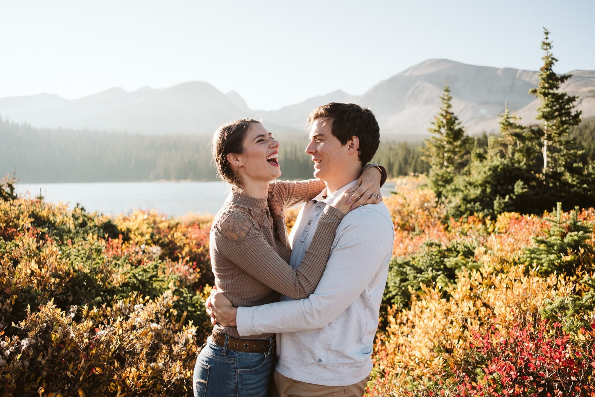 Engagement photos at Brainard Lake Recreation Area
