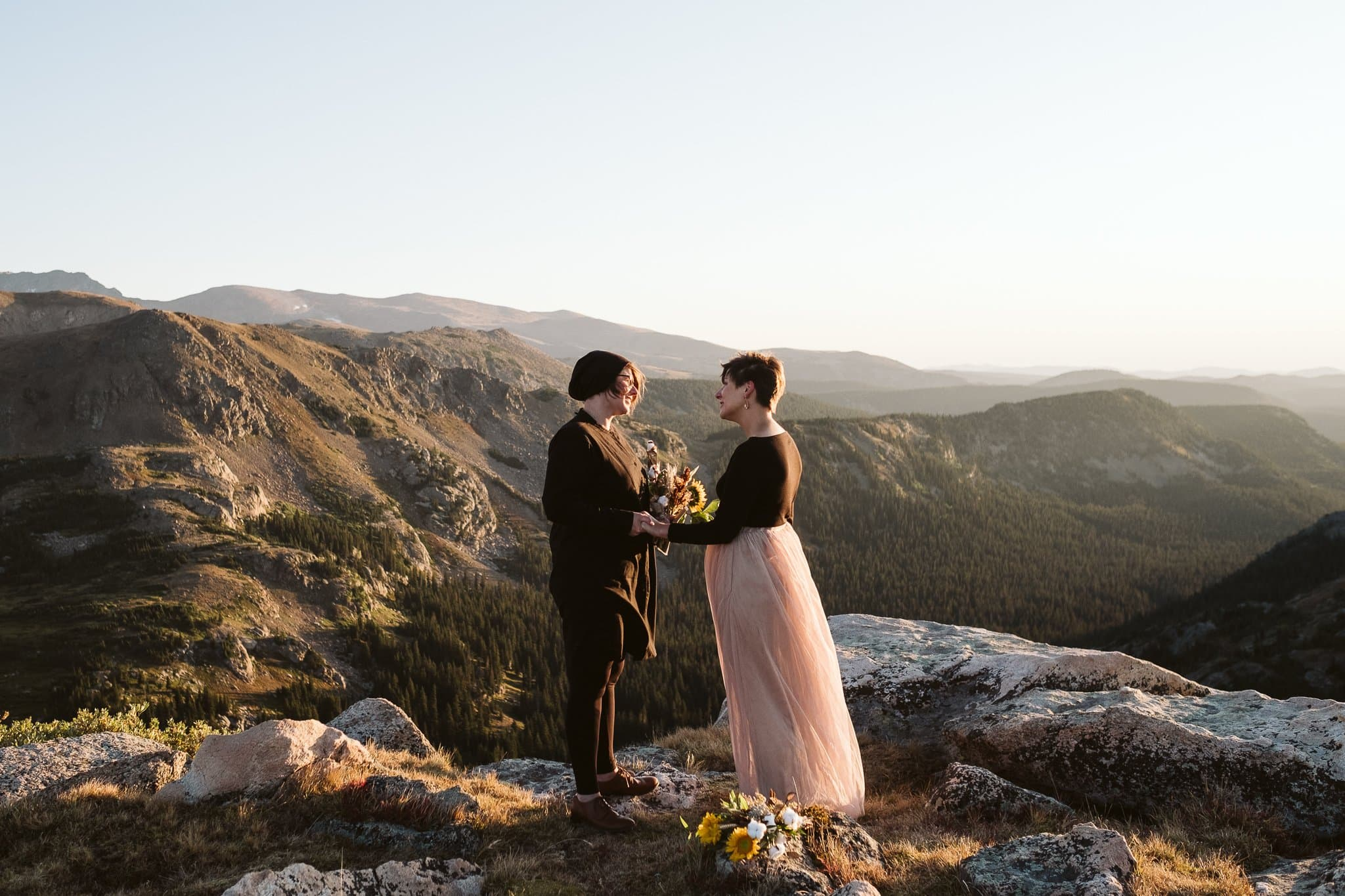 Indian Peaks Wilderness hiking elopement near Boulder and Winter Park, Colorado lgbtq wedding photographer