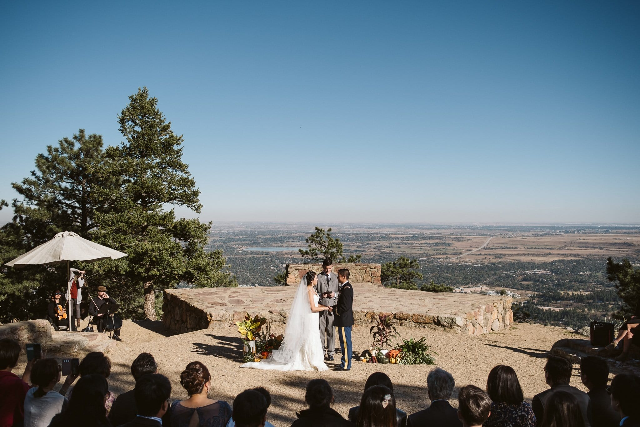 Sunrise Amphitheater wedding ceremony in Boulder