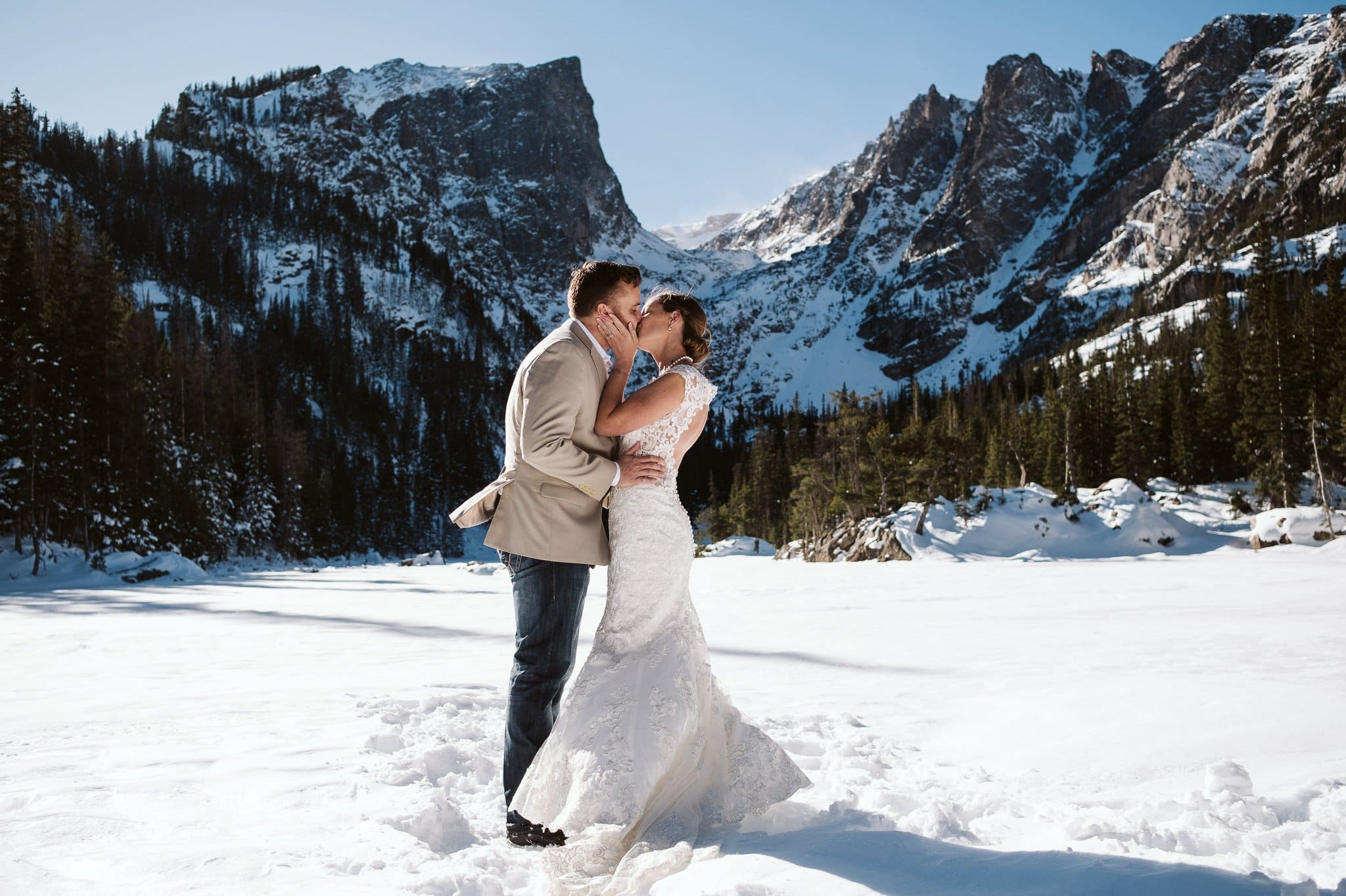 Dream Lake elopement photos in Rocky Mountain National Park