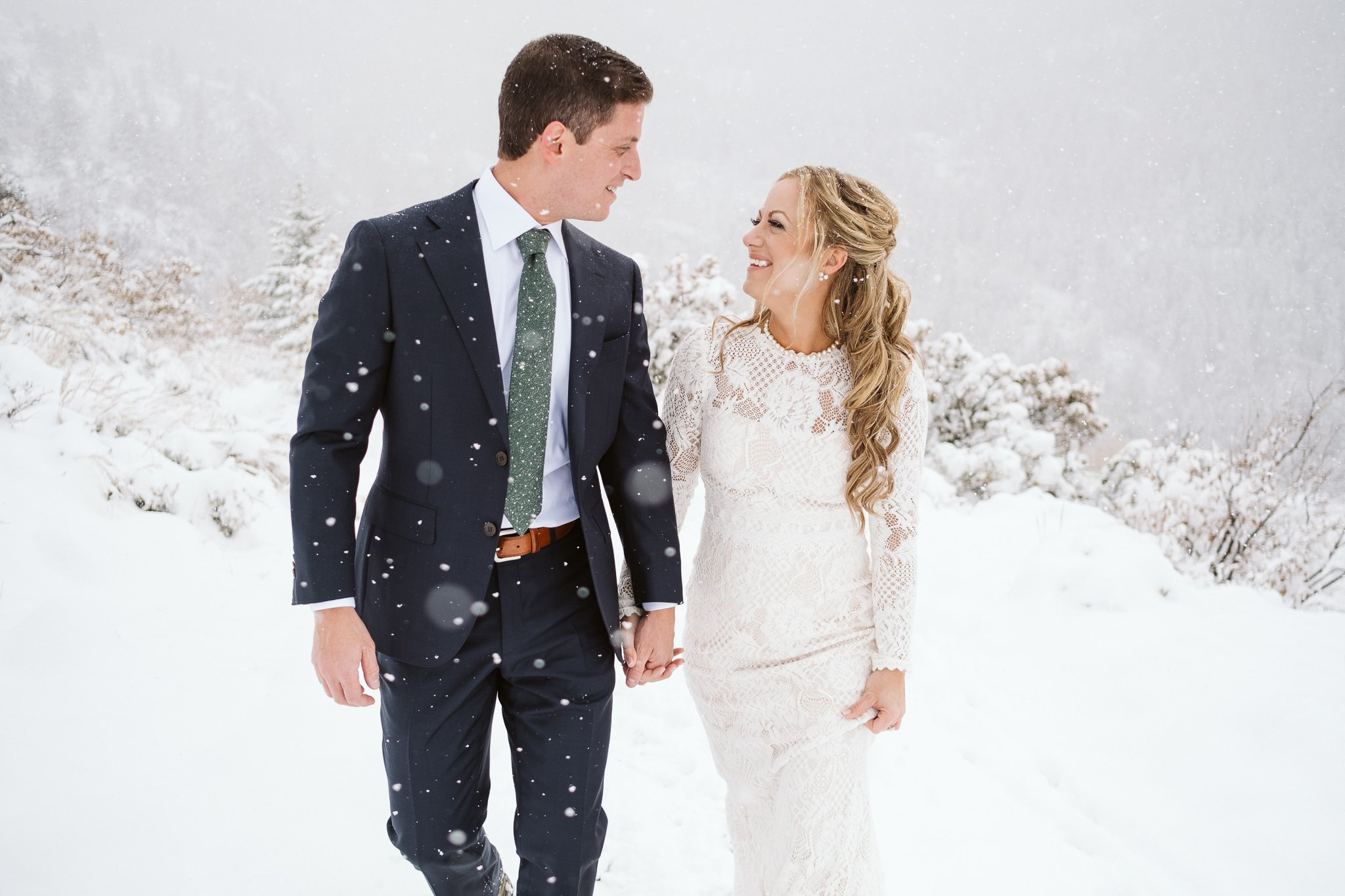 Steamboat Springs elopement in winter