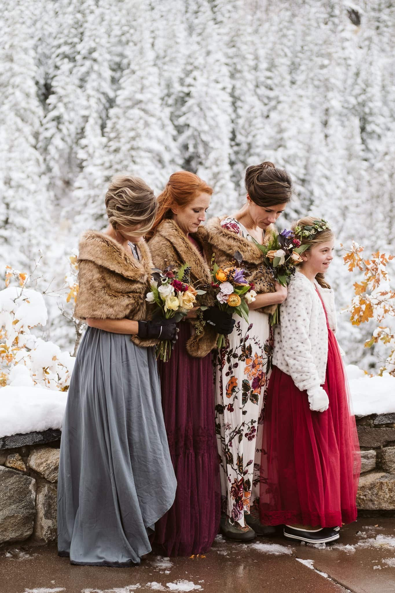 Elopement ceremony at Fish Creek Falls overlook in Steamboat Springs