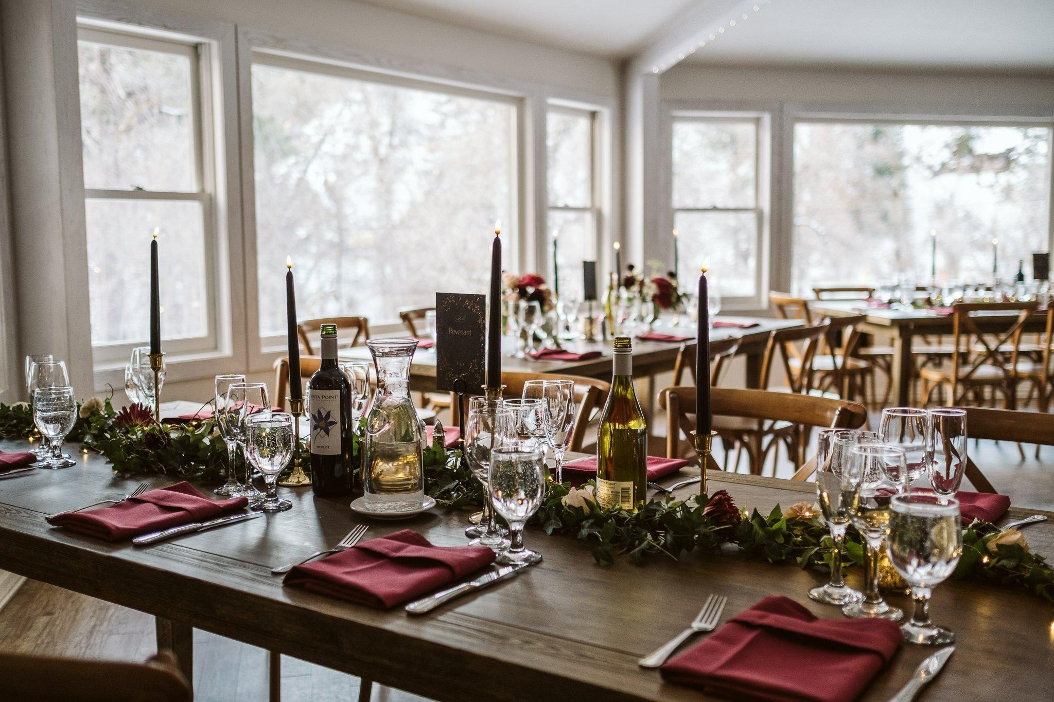 Wedgewood Boulder Creek wedding reception