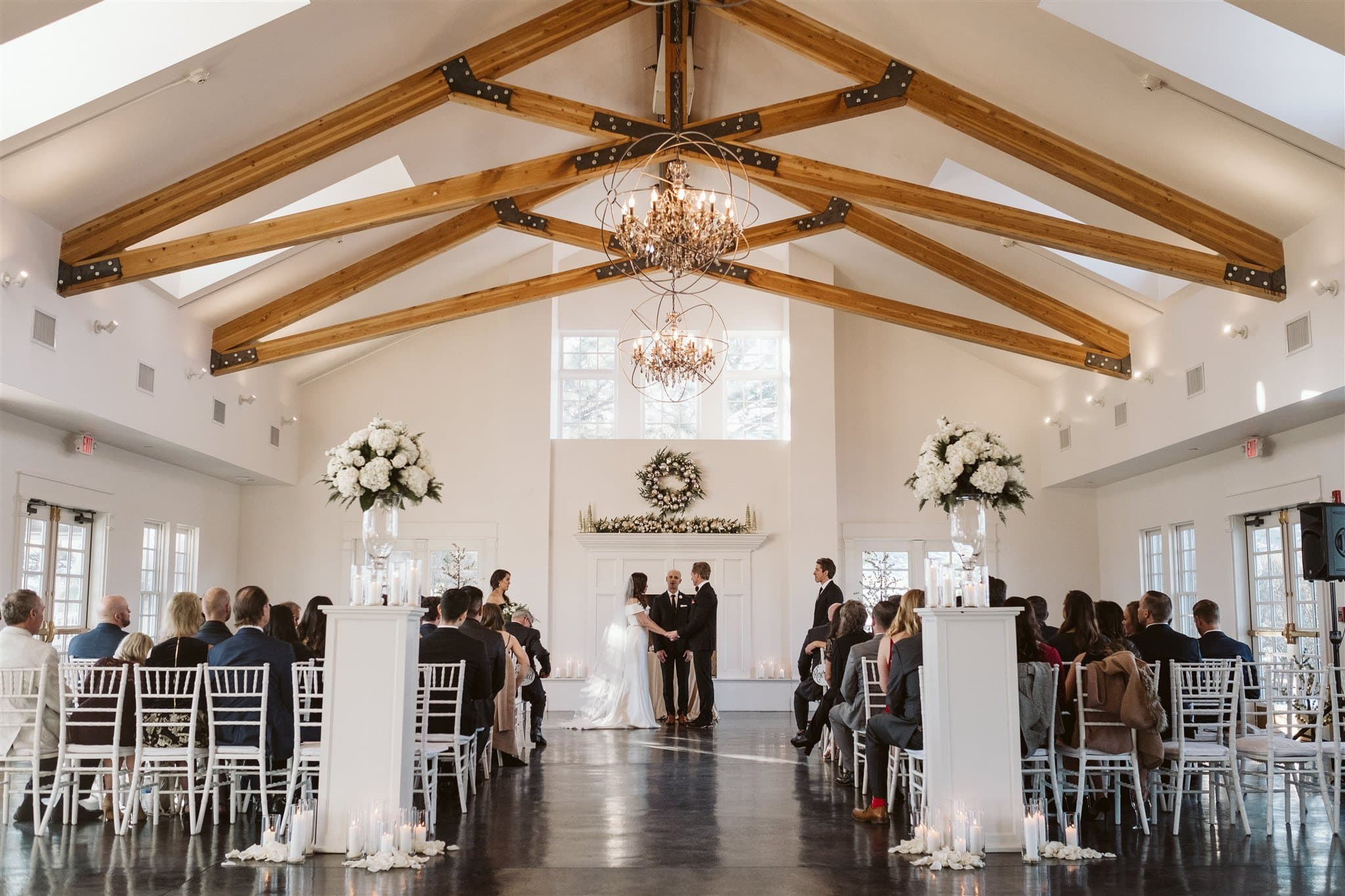 Wedding ceremony at Manor House in Littleton