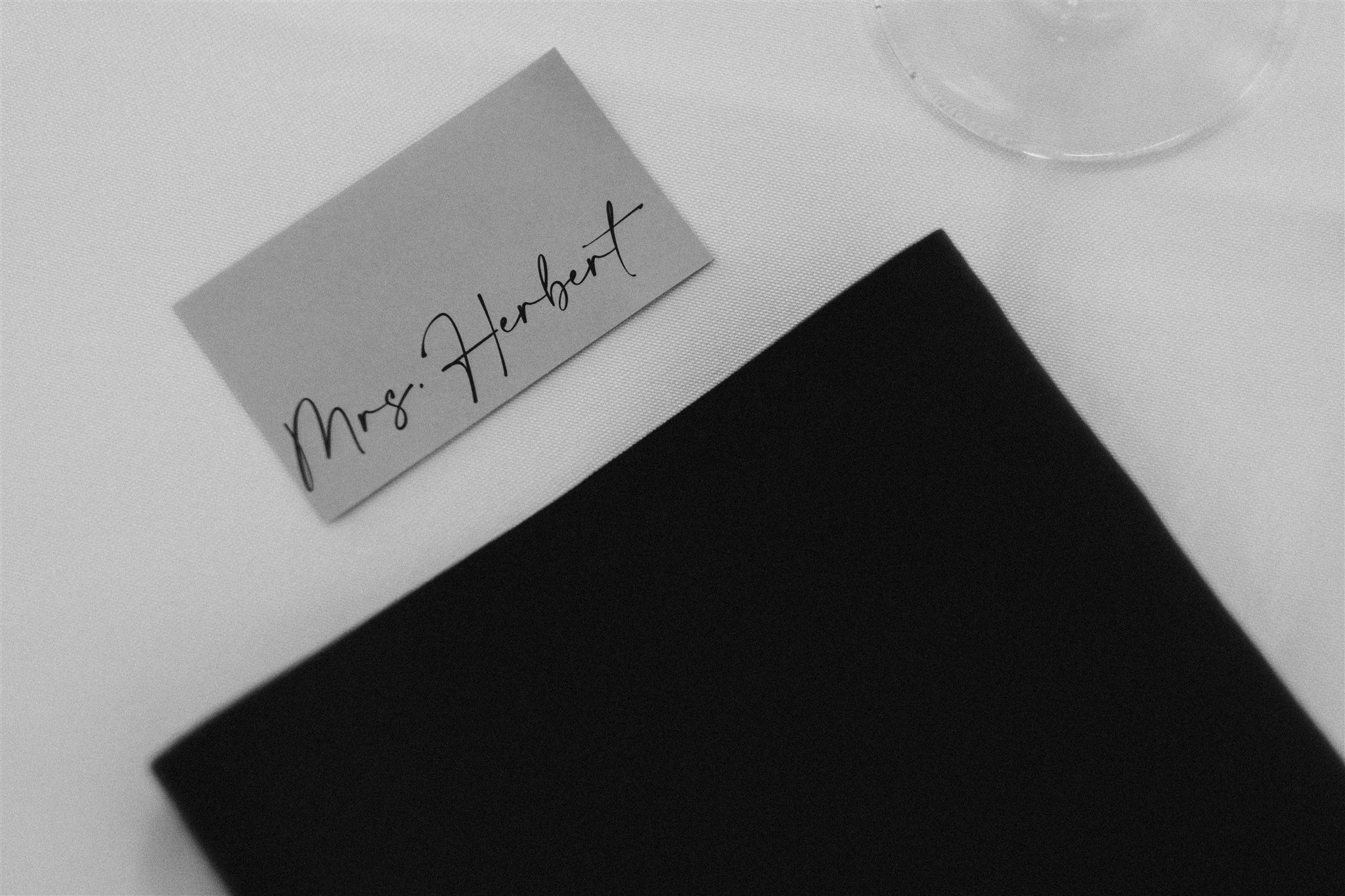 Simple calligraphy placecards